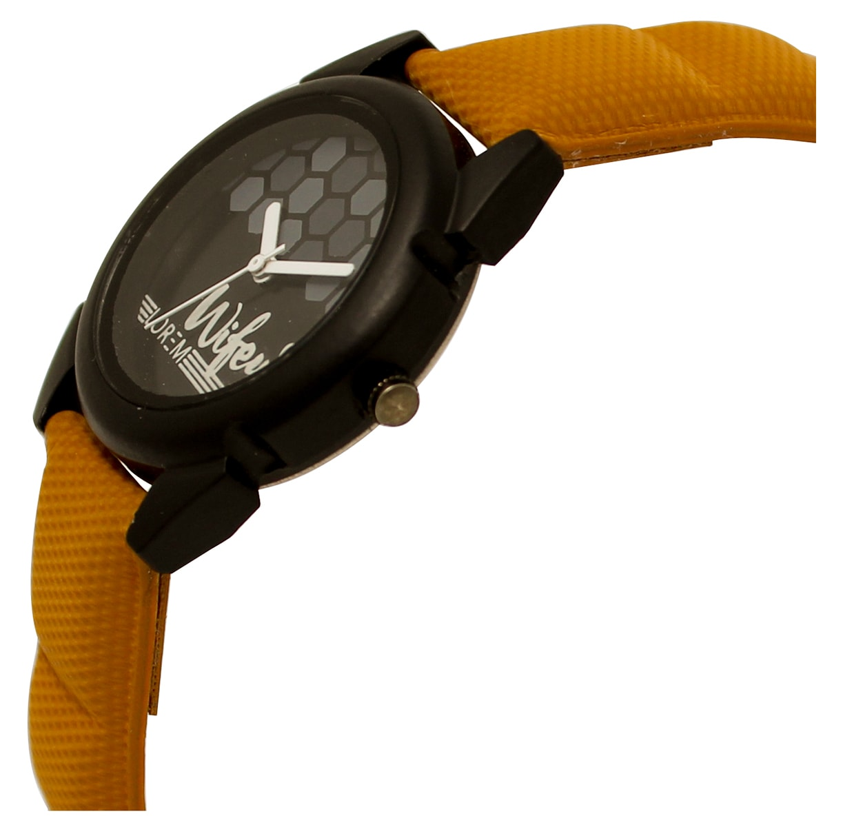 Lorem New Leather Strap Analogue Black Dial  Watch For Women
