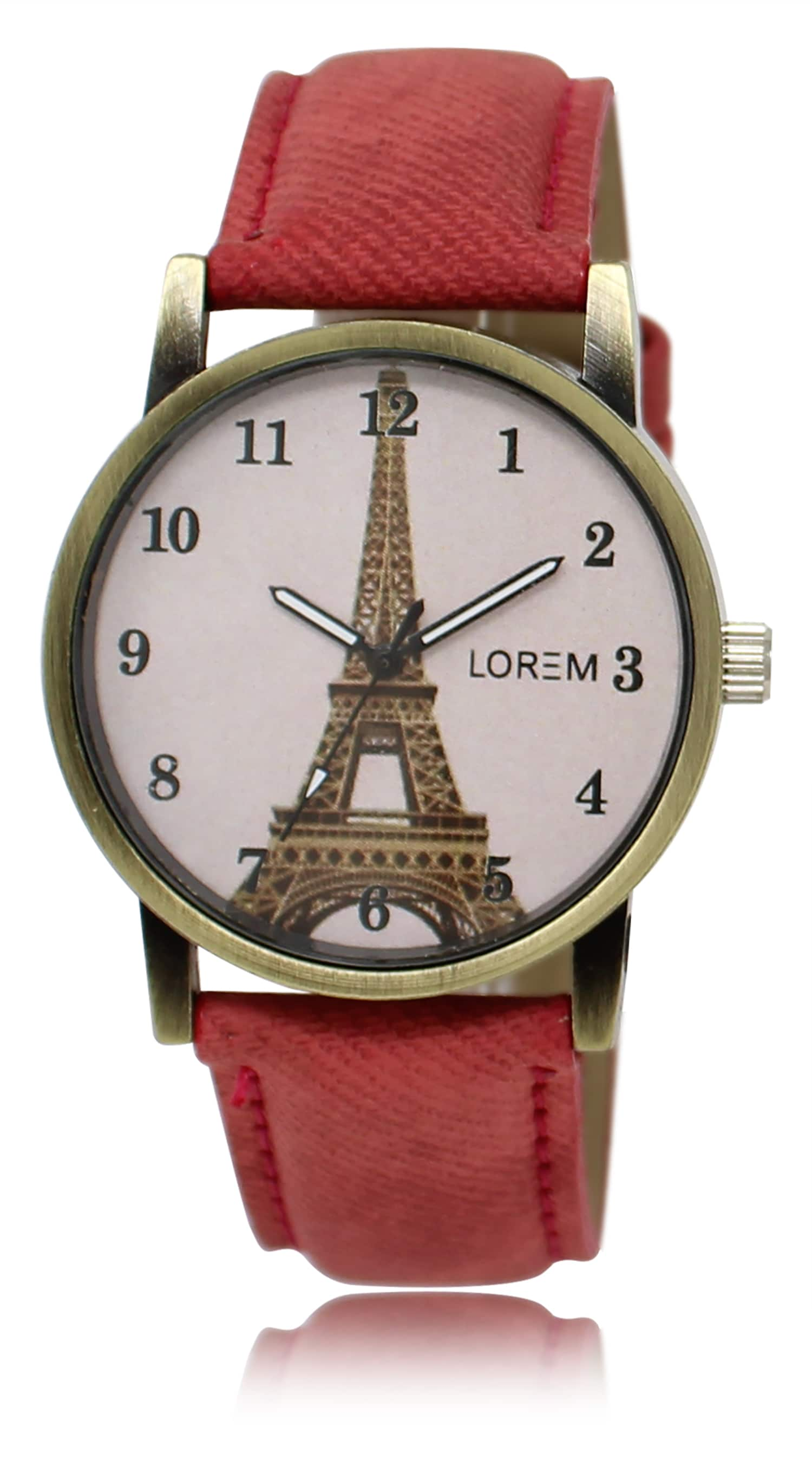 LOREM New Leather Strap Analogue Watch For Women