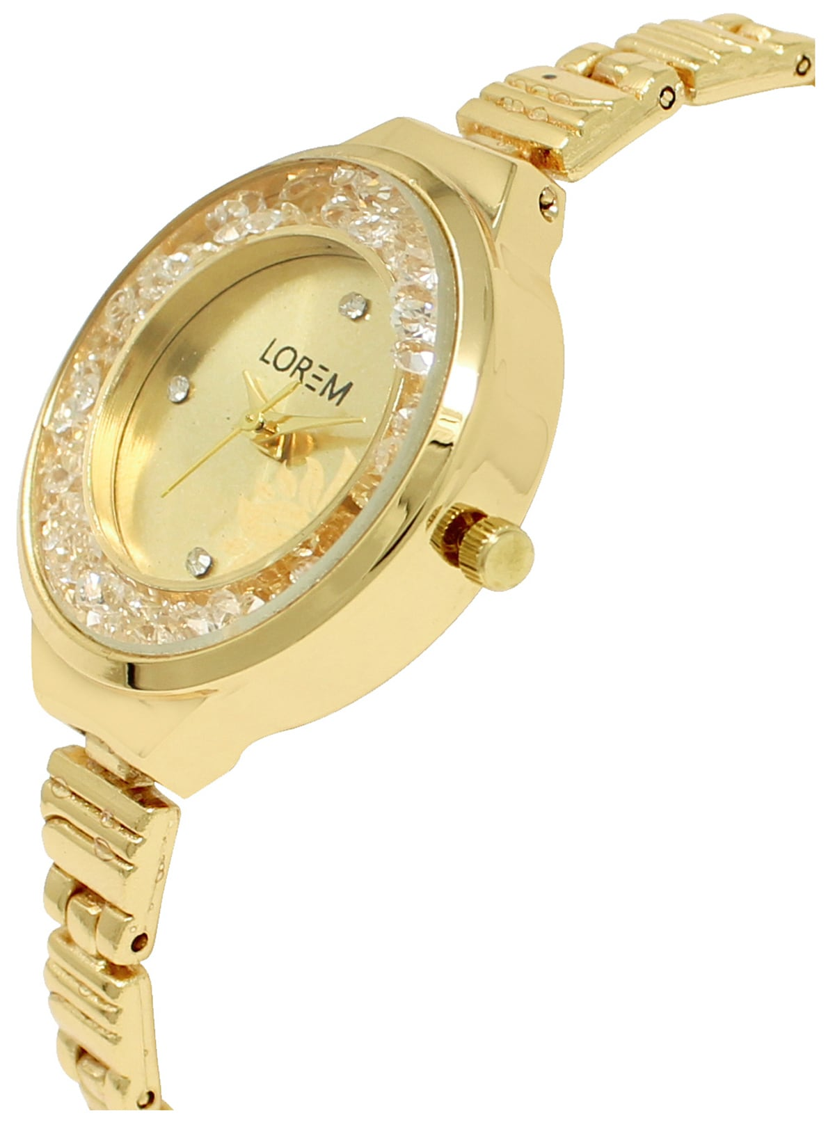 LOREM New Designer Stylish Women's Gold Colour Dial Analogue Watch