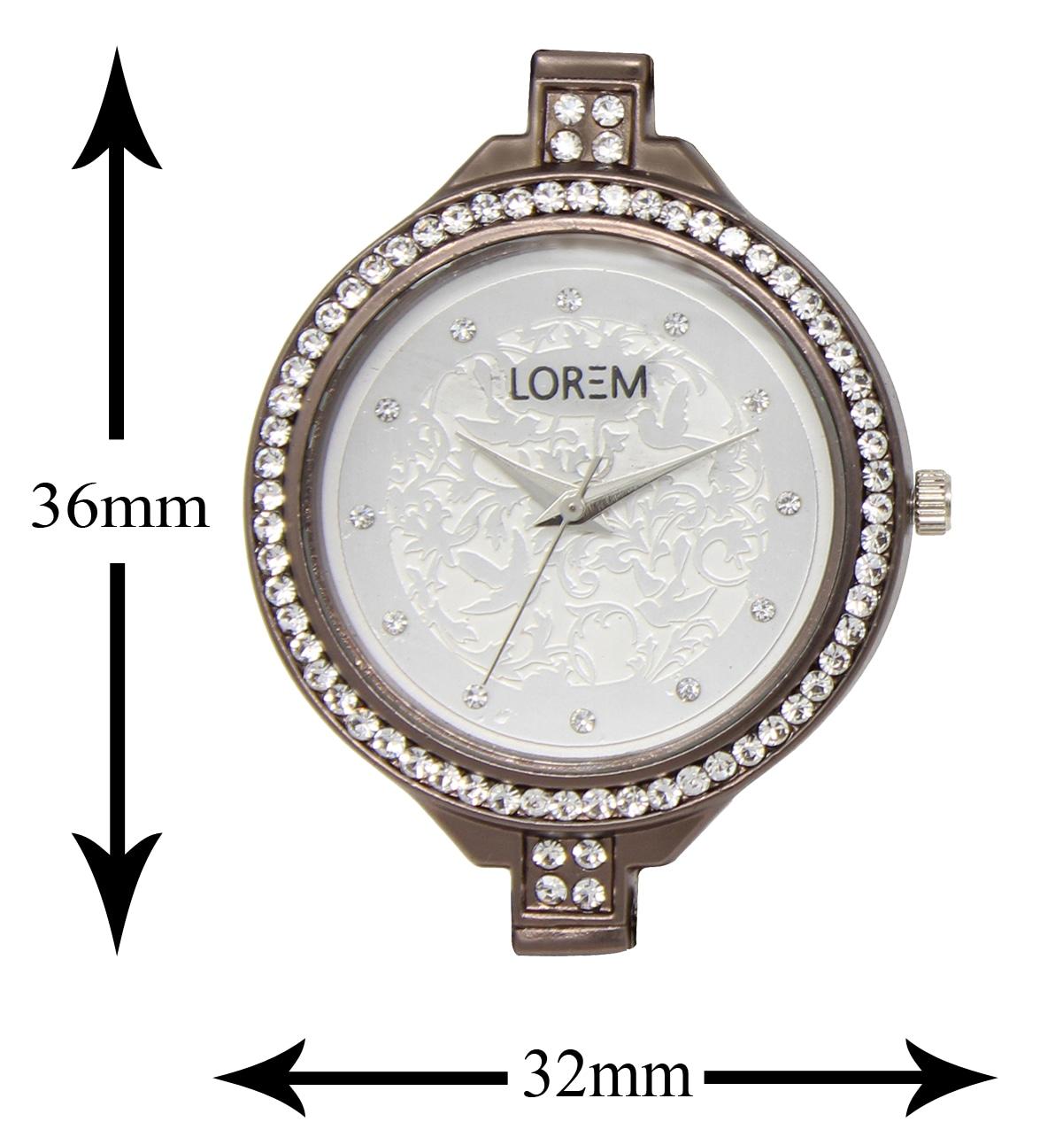 LOREM Analogue White Dial  Strap Fashion Wrist  Watch For Women