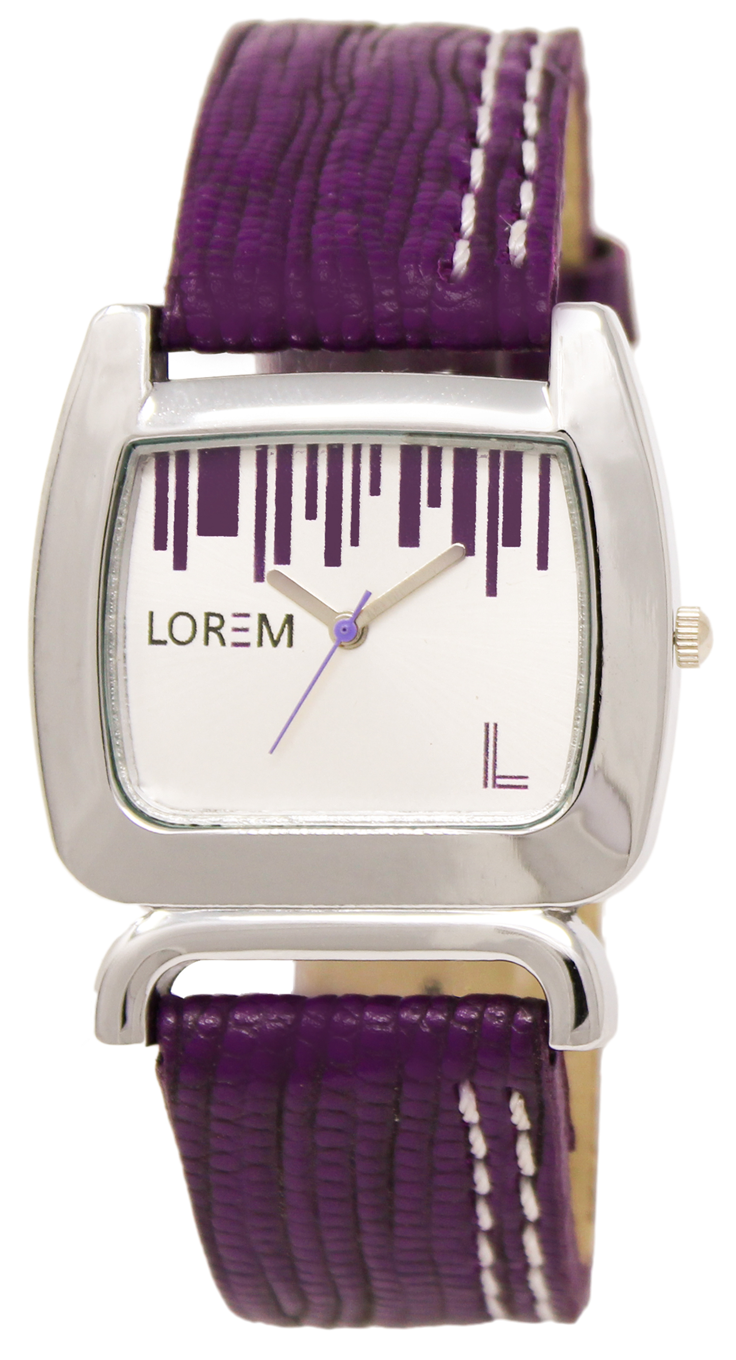 LOREM Analogue White Dial Leather Strap Watch For Women And Girls