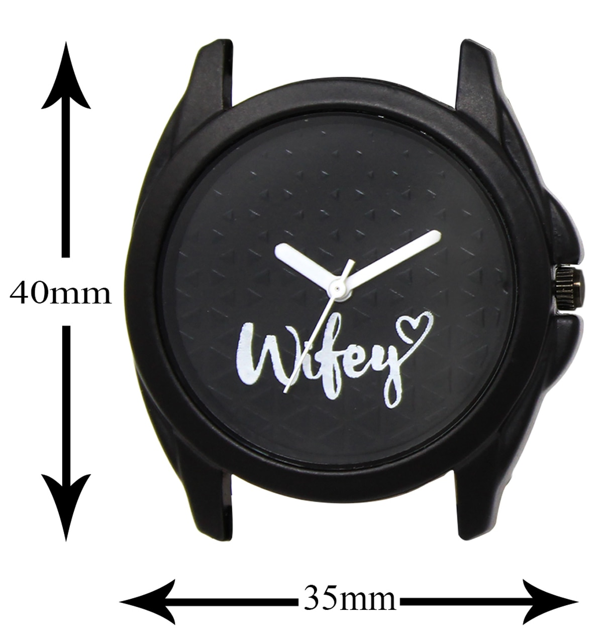Lorem New Analogue Black Round Dial Leather Strap  Watch For Women