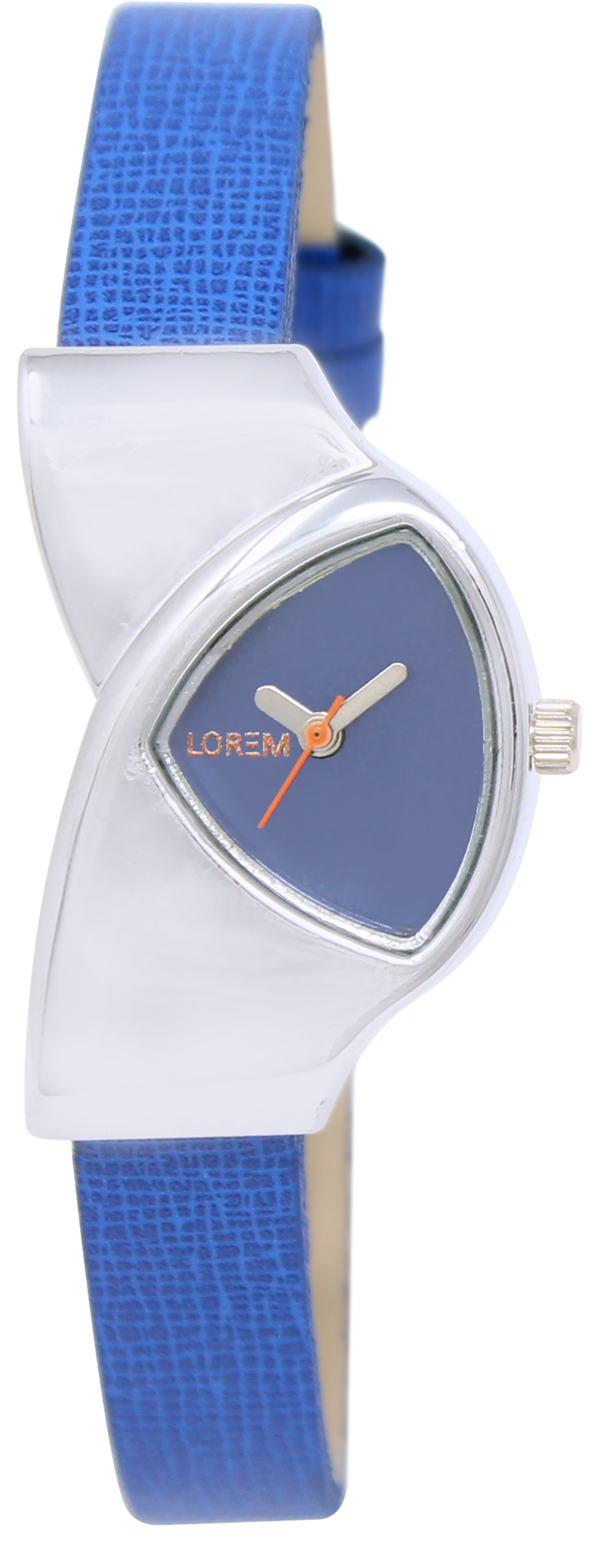 LOREM  Arrival Blue Leather Strap Stylish Dial Watch - For Girls