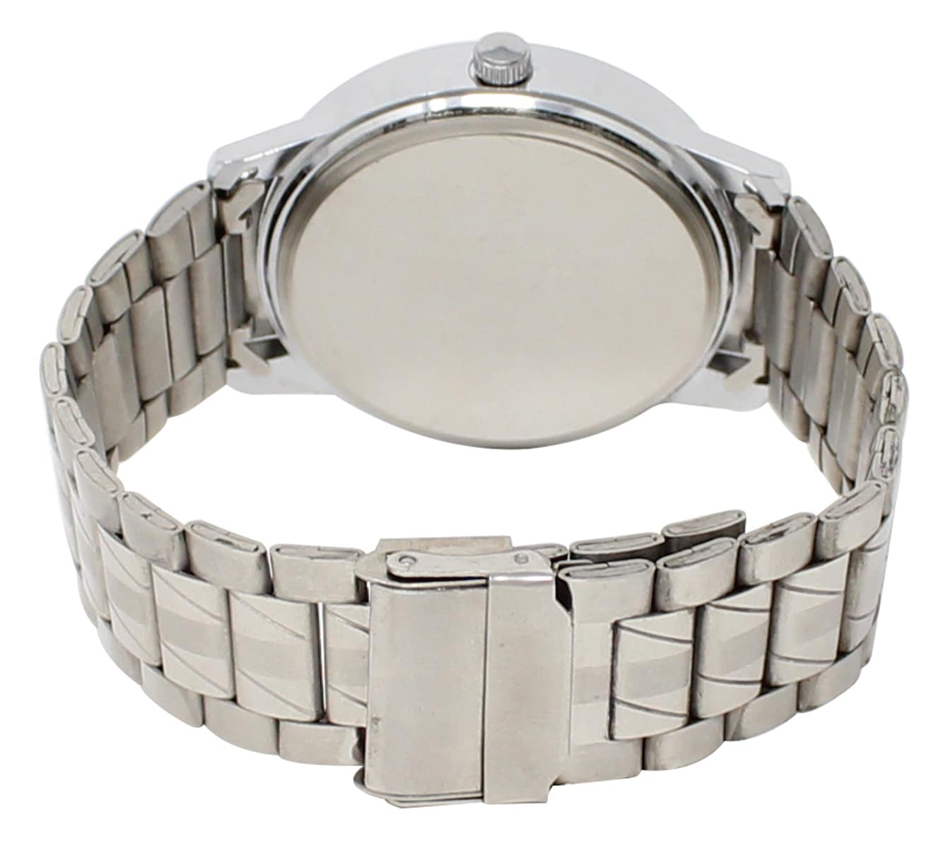 LOREM Watches For Mens Stylish Day And Date Indicator Silver Dial Stainless Steel Belt Official Look
