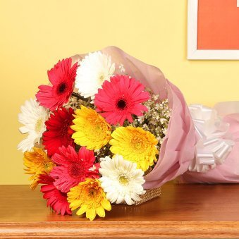 Rise N Shine - Gerberas And Chocolates