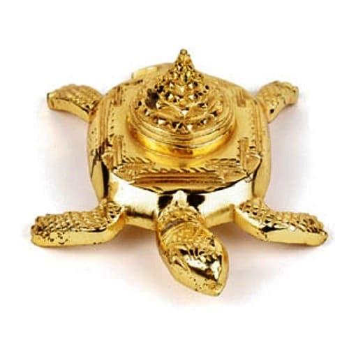 Numeroastro Vastu Pyramid Tortoise | Turtle Shri Yantra In Brass For Good Luck - (5 Cm) (1 Pc)