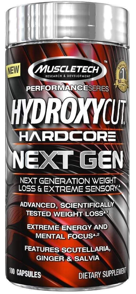 Muscletech Performance Series Hydroxycut Hardcore Next Gen - 100 Capsules (Ginger And Salvia)