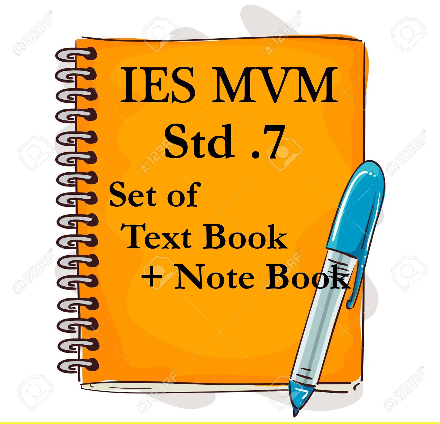 IES MVM STD .7 SET  OF TEXT BOOK + NOTE BOOK