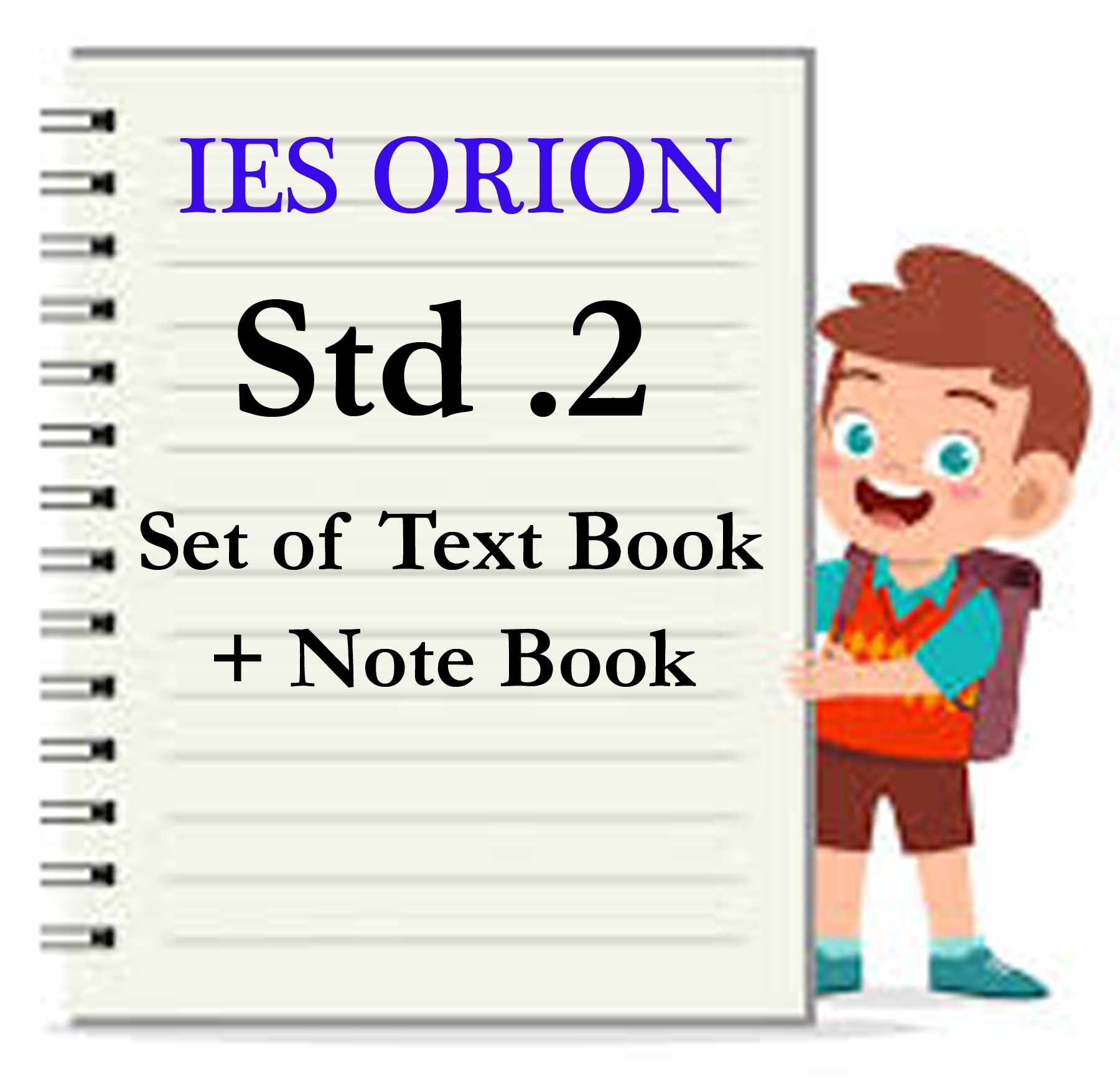 IES ORION STD.2 SET OF TEXT BOOK + NOTE BOOK