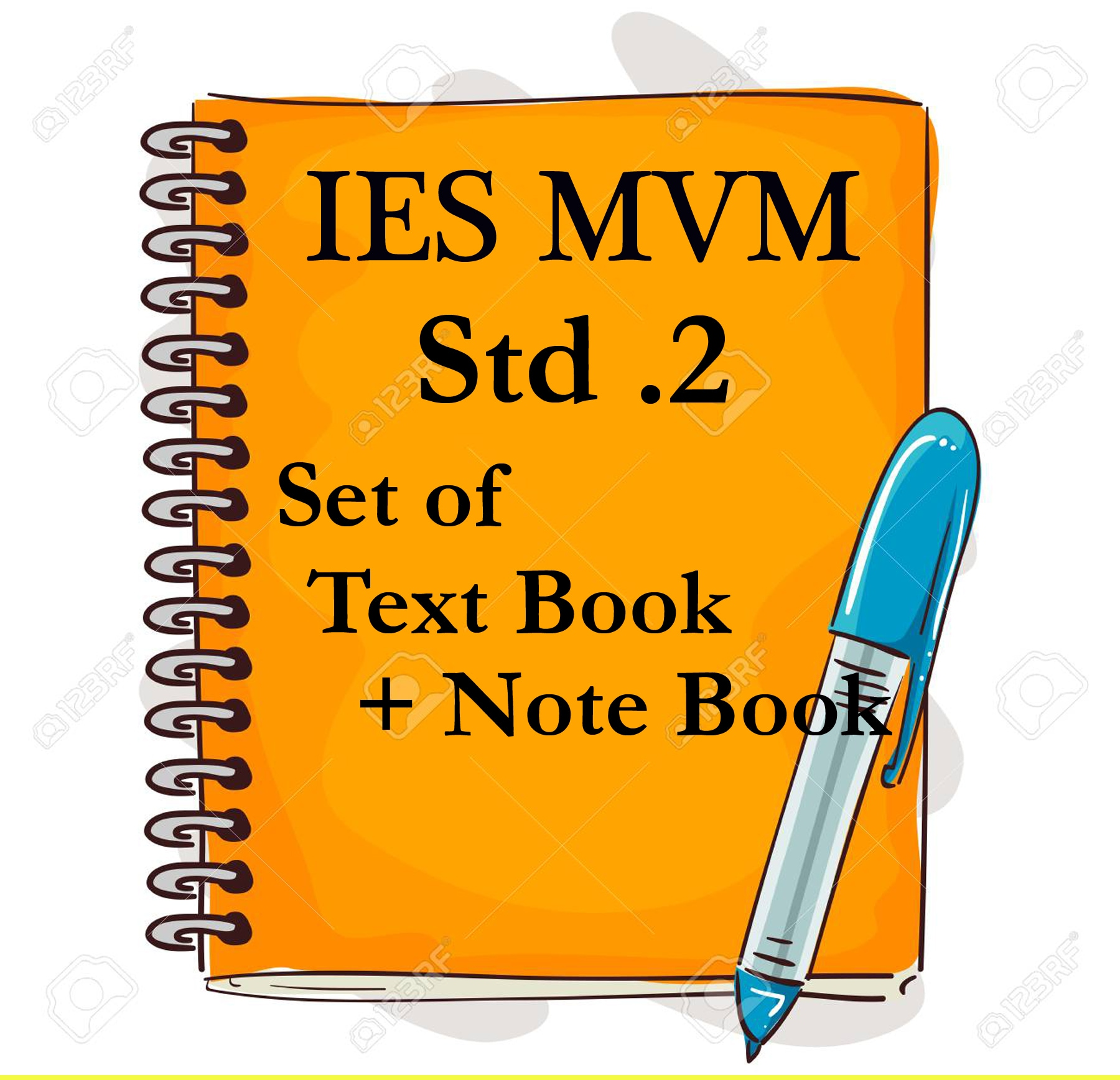 IES MVM STD .2 SET  OF TEXT BOOK + NOTE BOOK