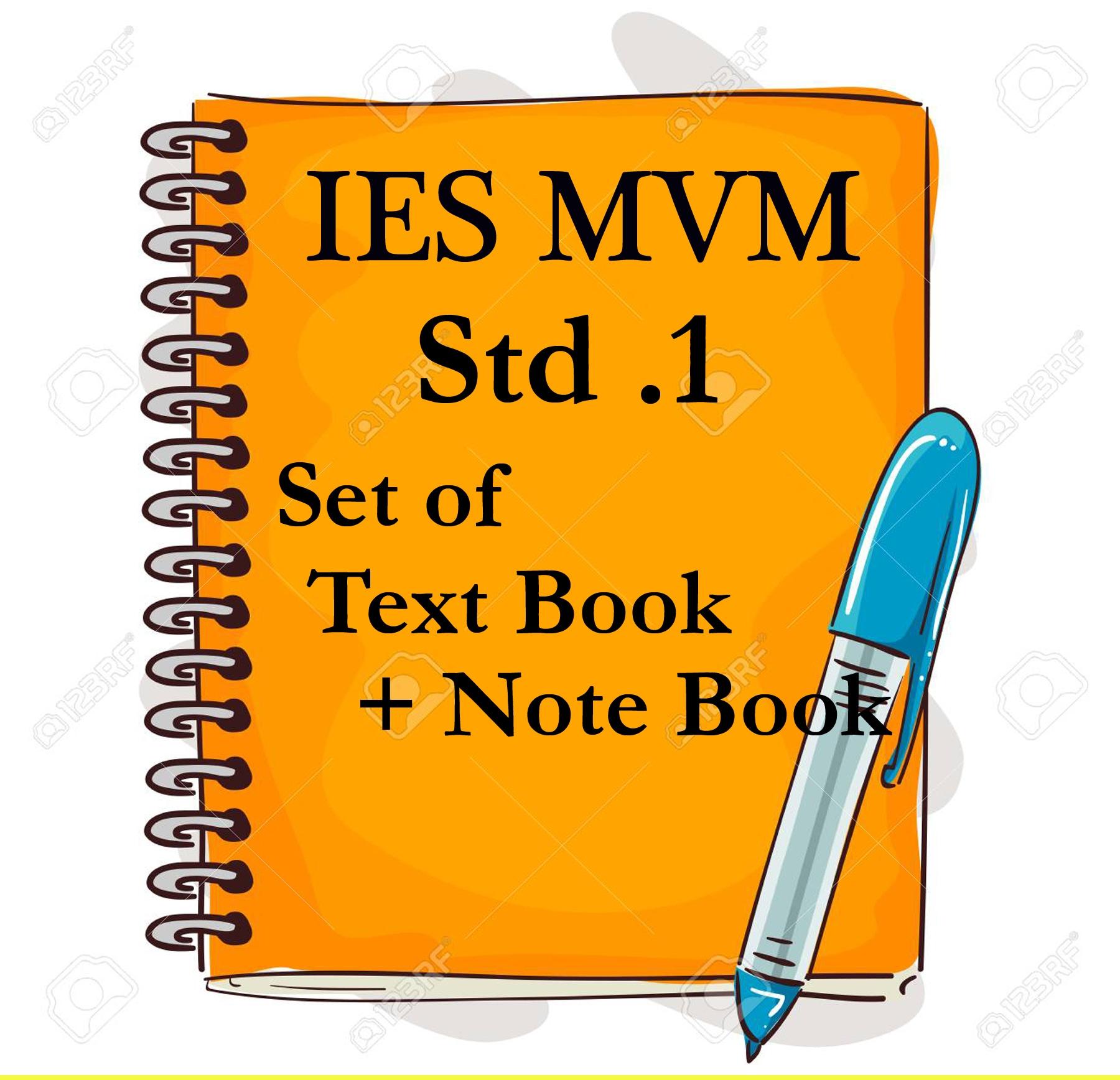 IES MVM STD .1 SET  OF TEXT BOOK + NOTE BOOK