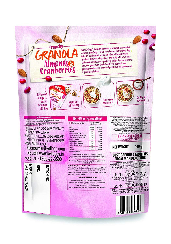 Kellogg's Almonds And Cranberries Crunchy Granola