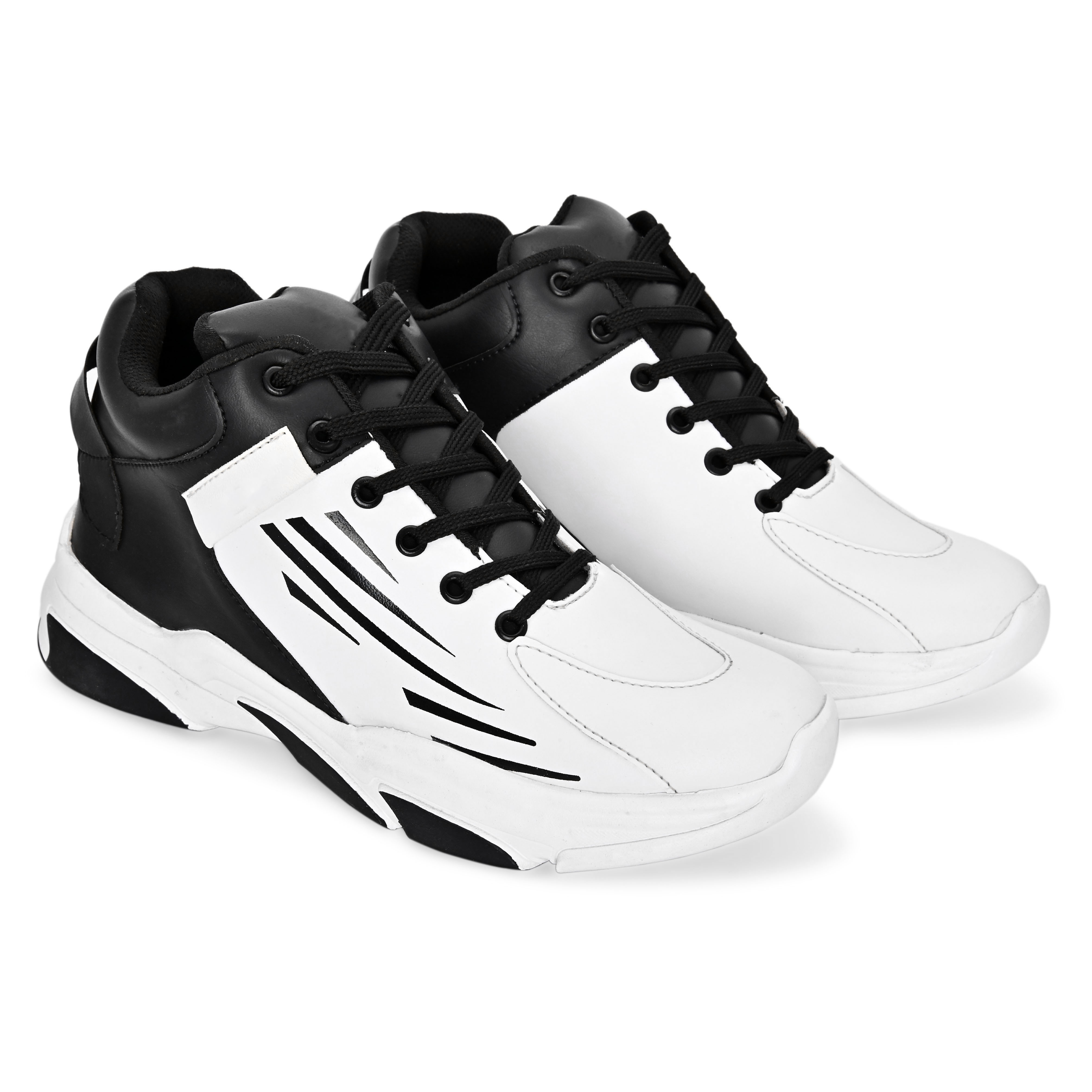 BRIFAR COMFORTABLE & TRENDY SPORTS SHOES ARE RELIABLE FOR ANY BFS0797BLK1 (7-10, BLACK, 4 PAIR)