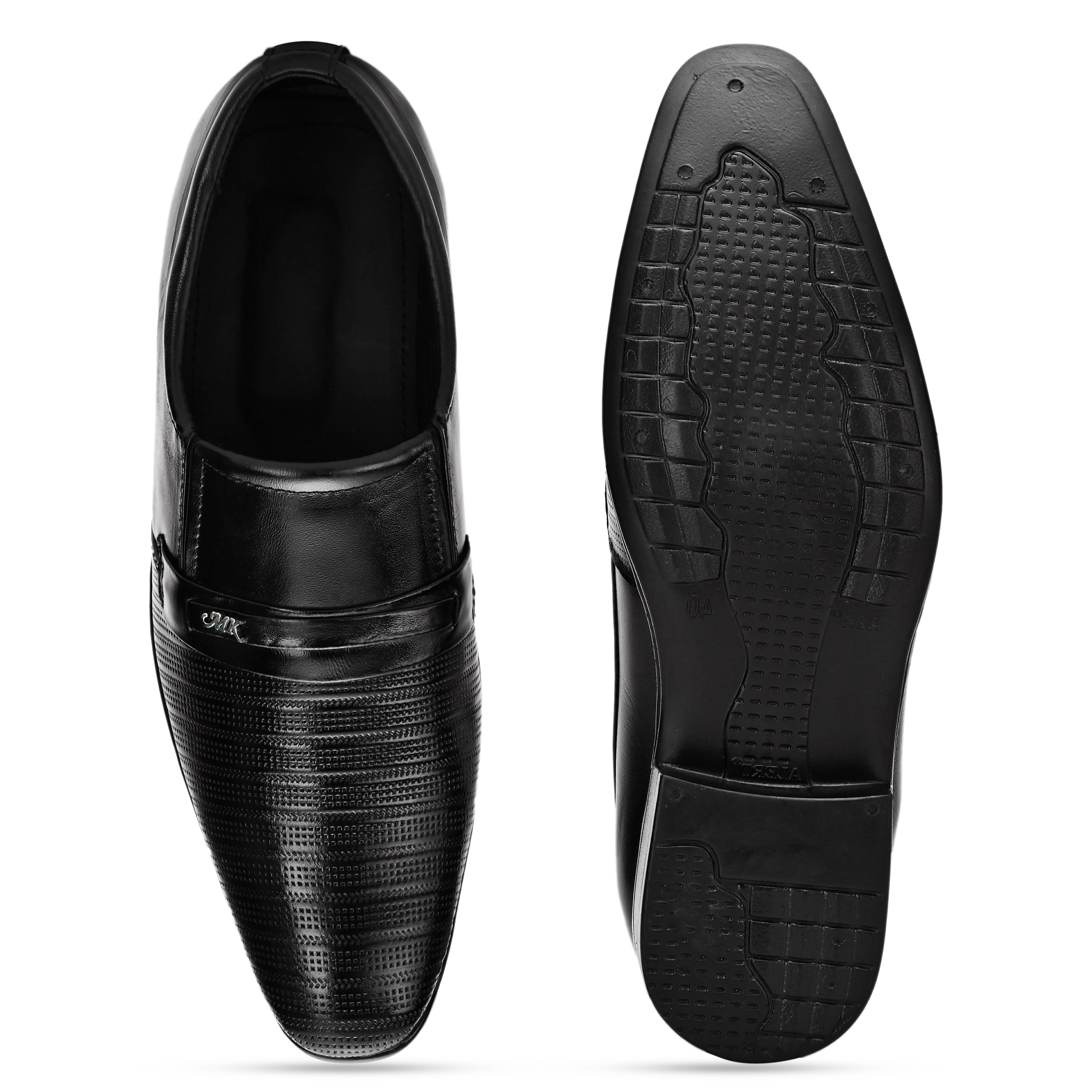 BRIFAR COMFORTABLE & TRENDY GENUINE LEATHER FORMAL SHOES ARE RELIABLE FOR ANY BFF0804BLK (6-9, BLACK, 4 PAIR)