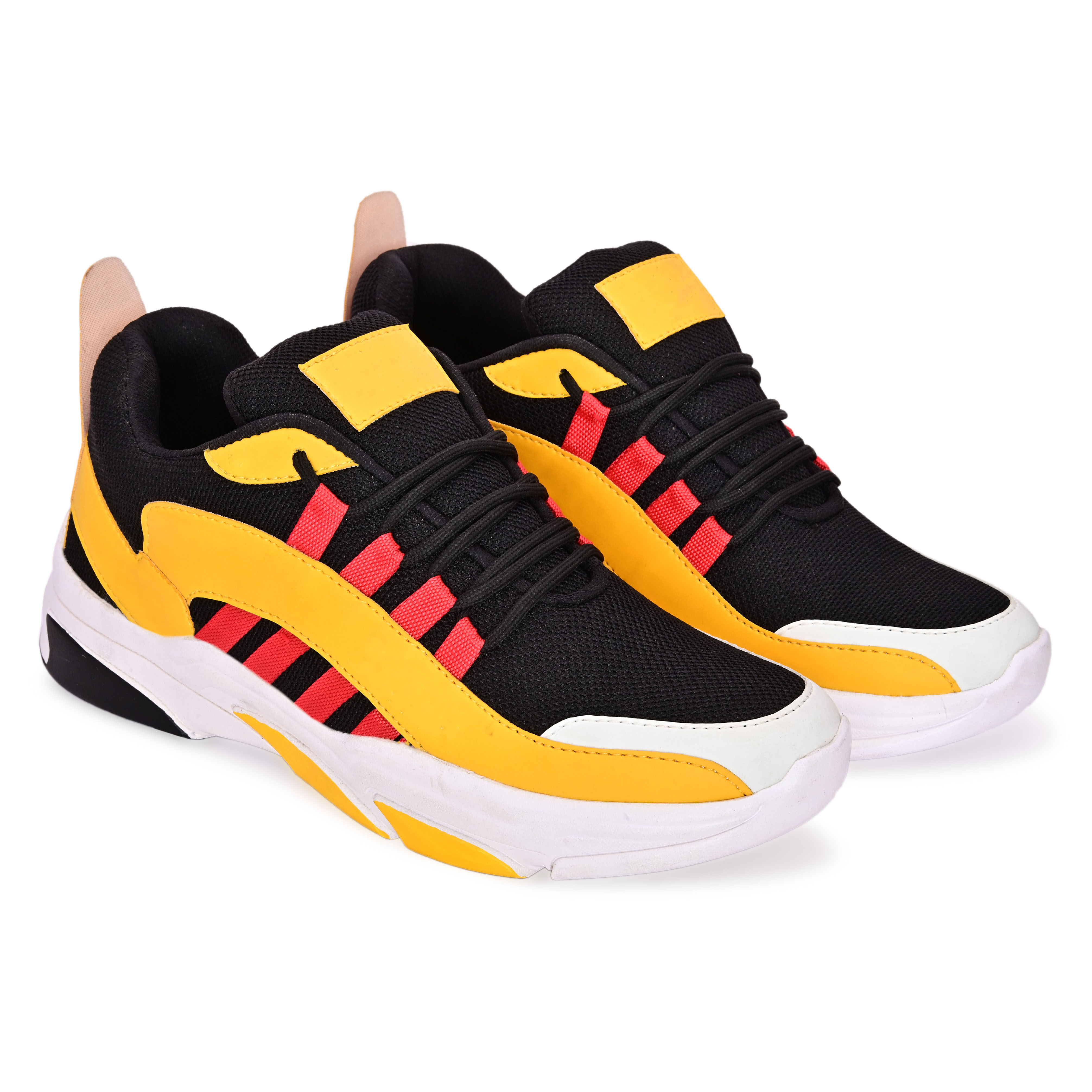 BRIFAR COMFORTABLE & TRENDY SPORTS SHOES ARE RELIABLE FOR ANY BFS0798YL1 (7-10, YELLOW, 4 PAIR)