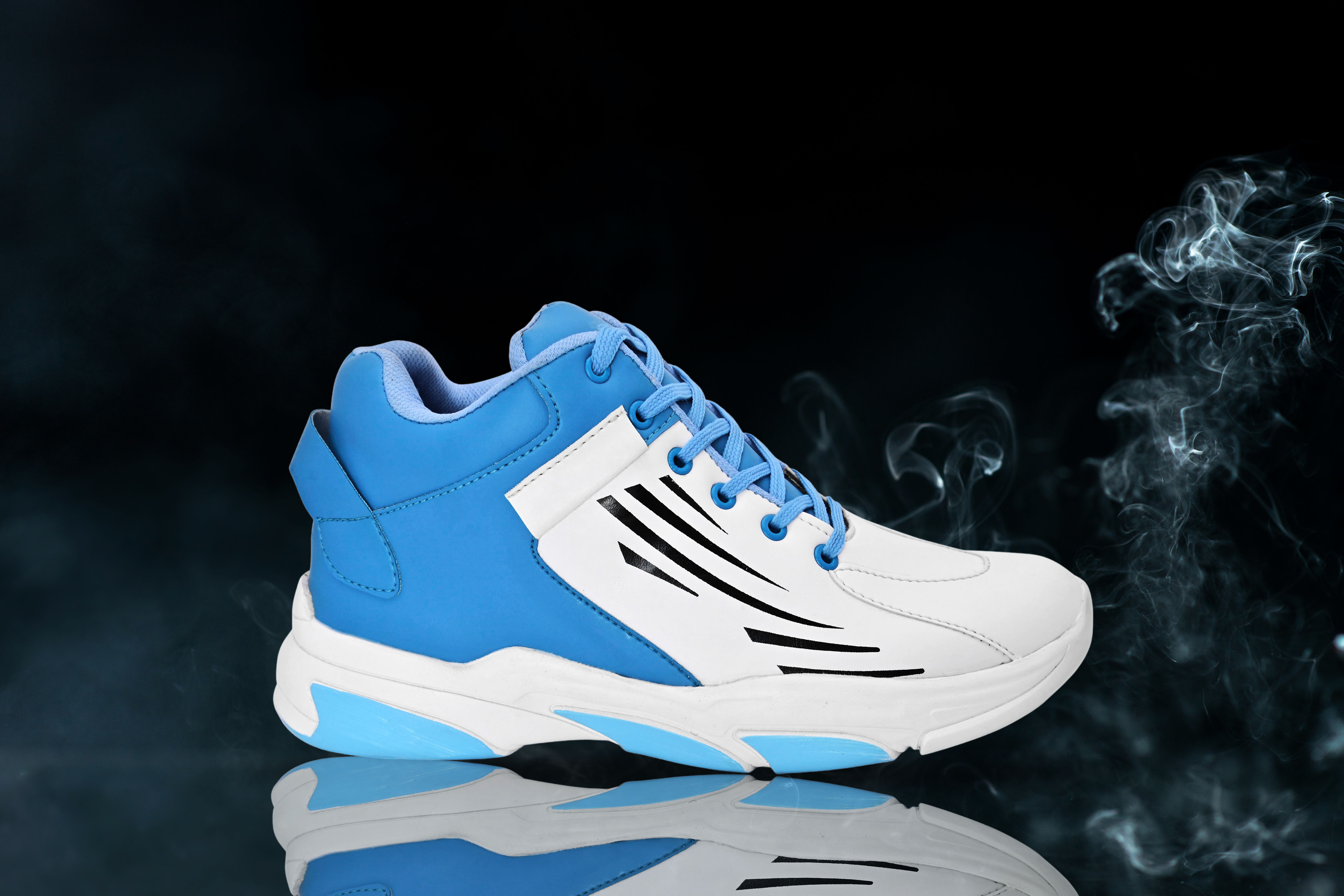 BRIFAR COMFORTABLE & TRENDY SPORTS SHOES ARE RELIABLE FOR ANY BFS0797BLU1 (7-10, BLUE, 4 PAIR)