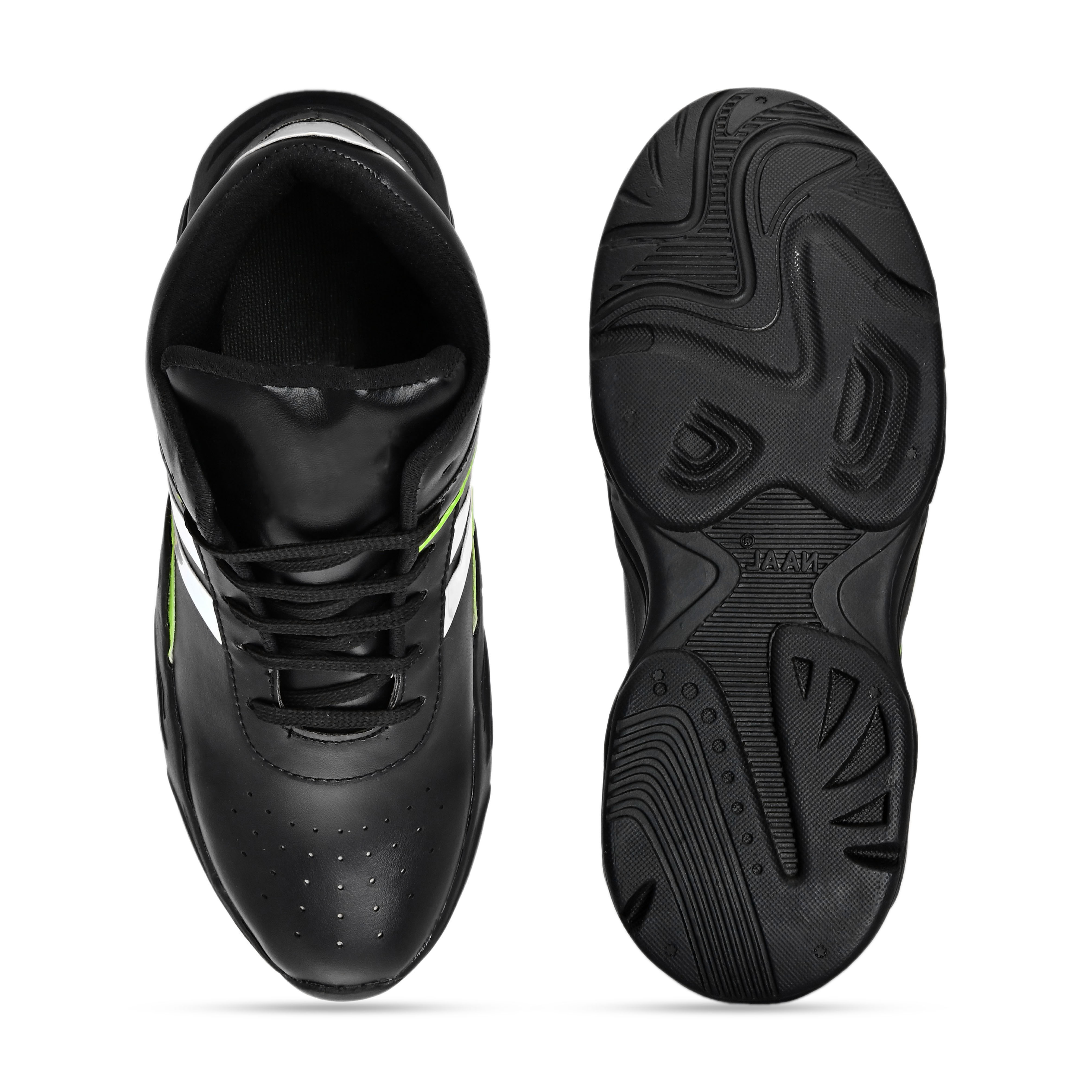 BRIFAR COMFORTABLE & TRENDY SPORTS SHOES ARE RELIABLE FOR ANY BFS0796BLK1 (7-10, BLACK, 4 PAIR)