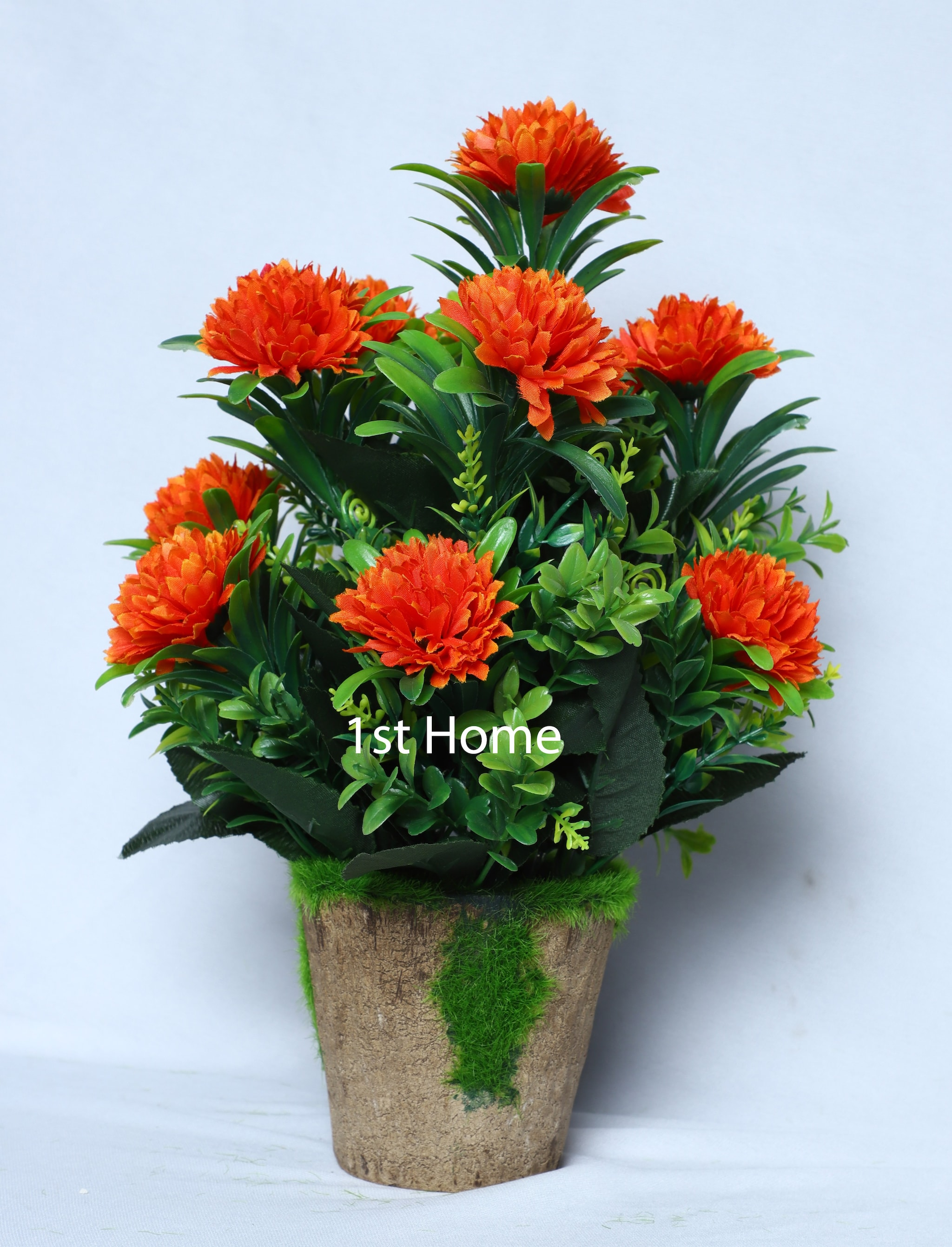 Artificial Orange Carnation Floral Arrangement NS1029