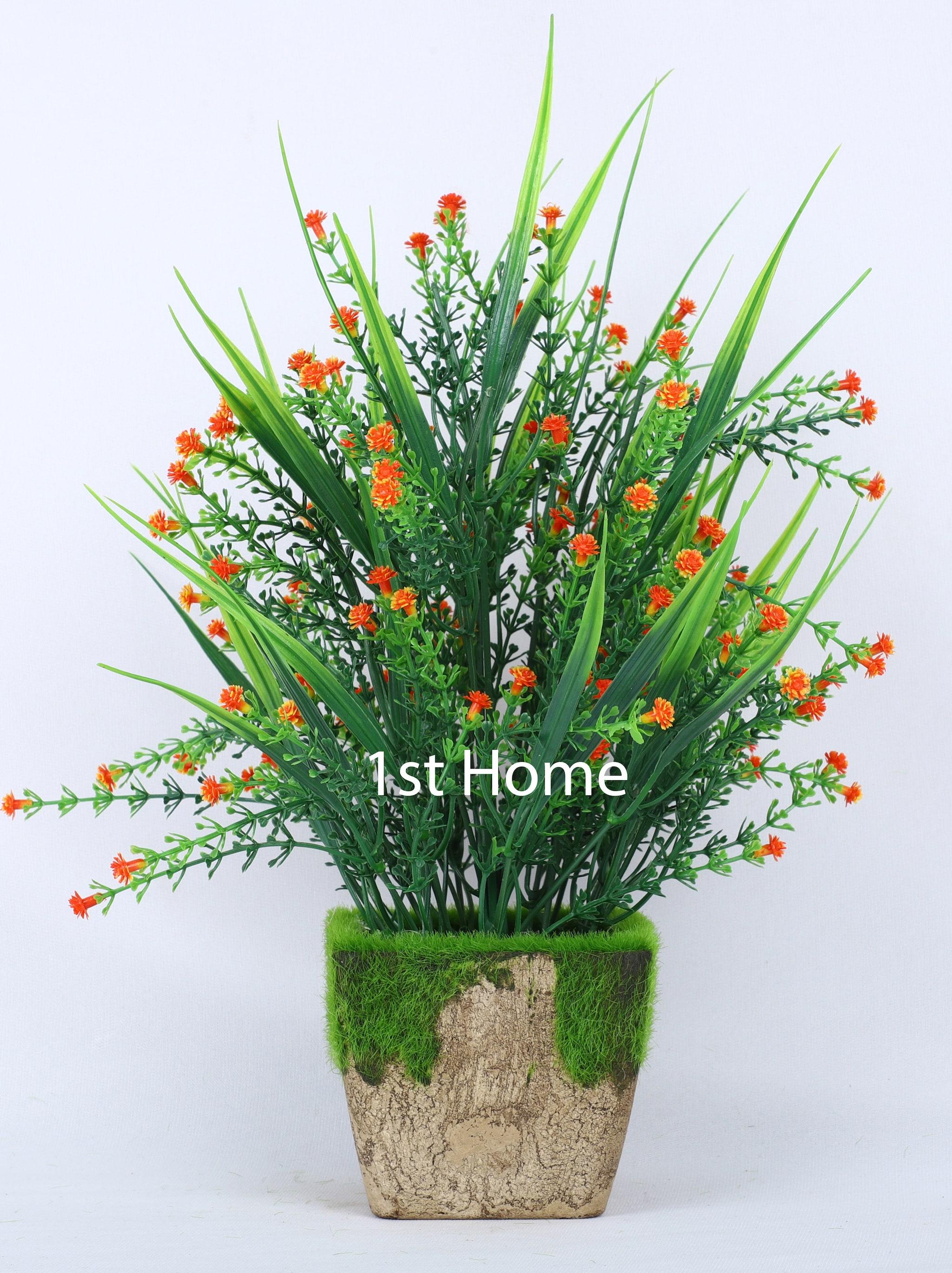 Artificial Orange Mixed Grass Bush NS1040