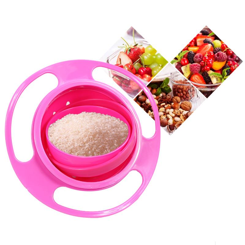 Spazies SPAZIES KIDS GYROSCOPIC SNACKS BOWL Plastic Disposable Bowl Set  (Pink, Pack Of 1)