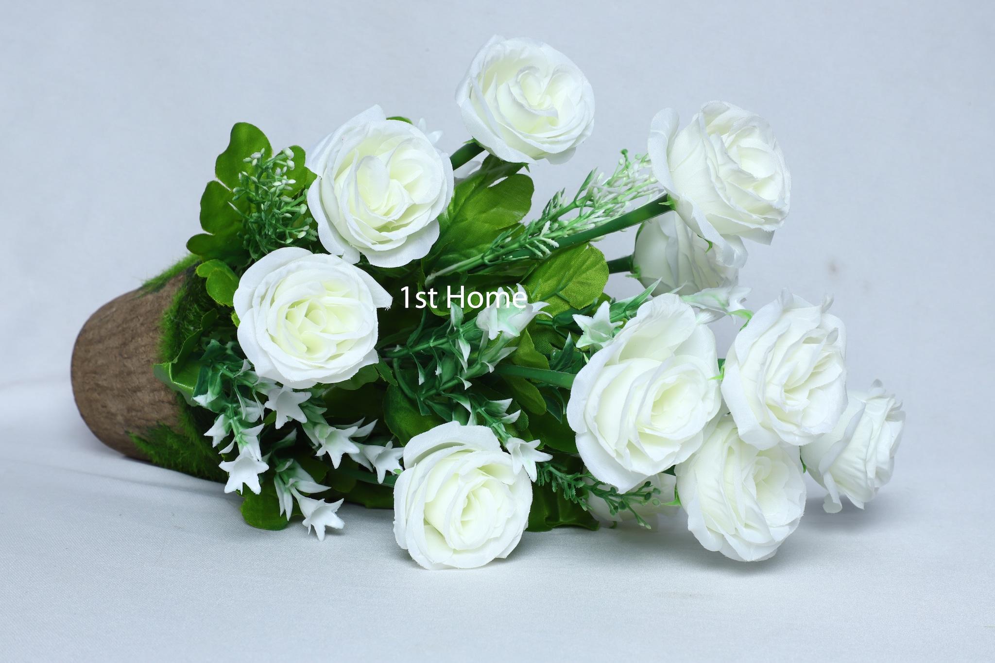 Artificial White  Rose Flower Arrangement NS 1022