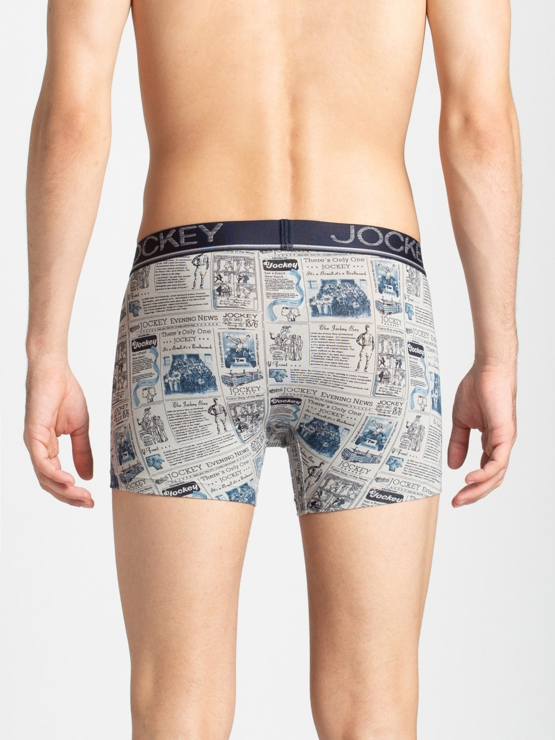 Jockey Grey & Navy Printed Trunk (M,Grey & Navy)