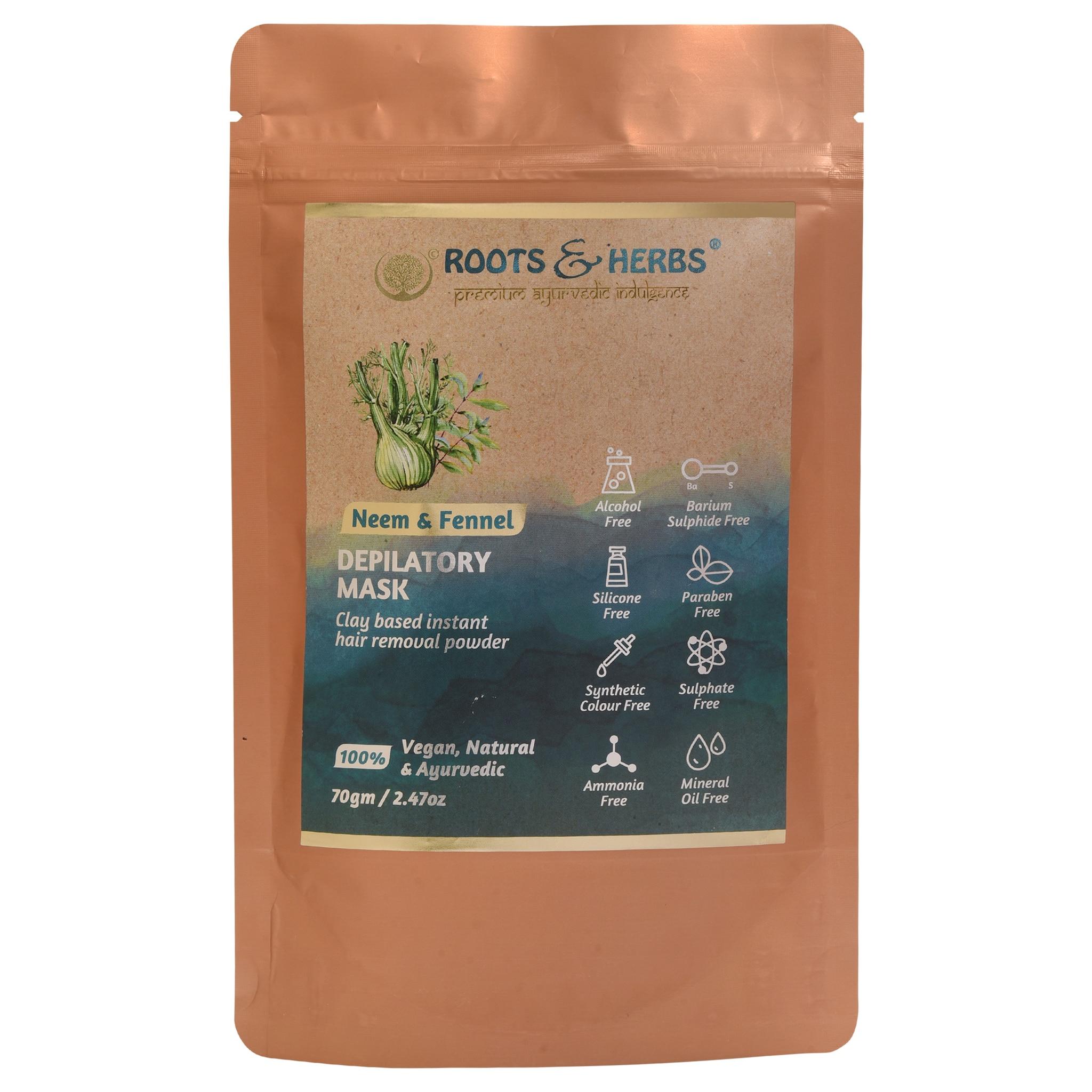 Roots & Herbs Neem & Fennel Depilatory Mask (70gm)