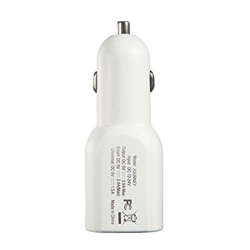 Stuffcool Journey 3.4A Dual USB Car Charger - White (CAJNY-WHT)