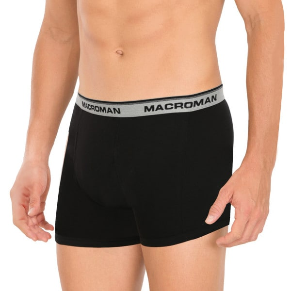 Macroman Men's Outer Elastic Trunk (L,Black Melange)