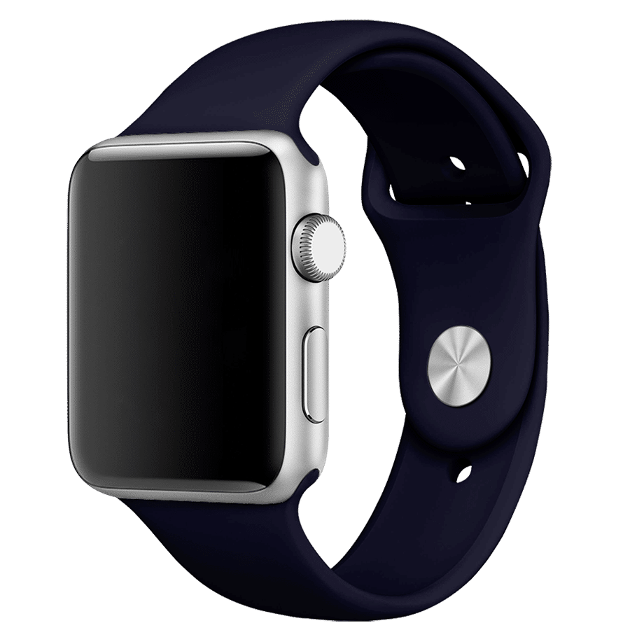 Premium Silicon 40mm Straps/Loops For Apple IWatch Series 4/5/6/SE (Midnight Blue)