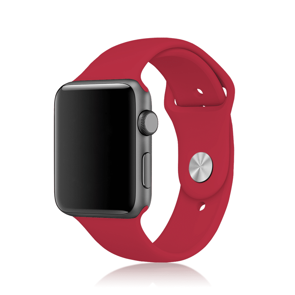 Premium Silicon 38 Mm Loops/Straps For Apple IWatch Series 3/4/5 (Maroon)