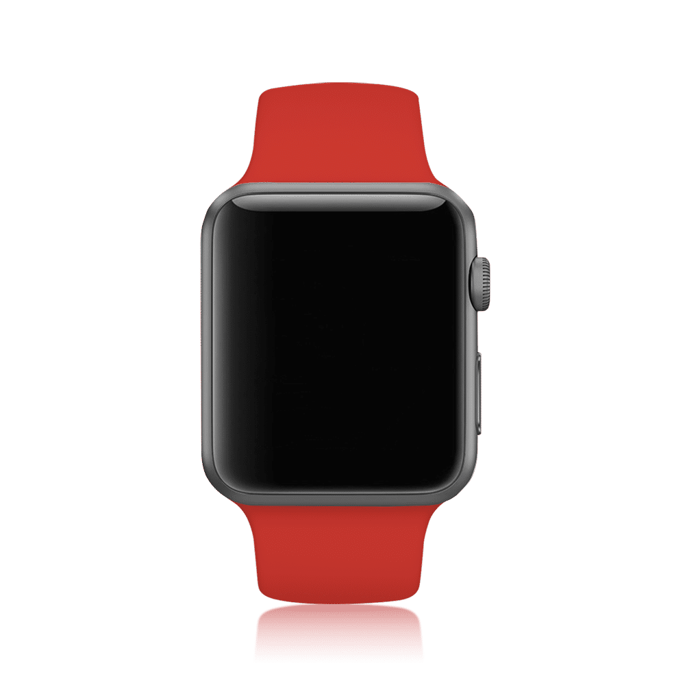 Premium Silicon 42mm Straps/Loops For Apple IWatch Series 3/4/SE (Red)