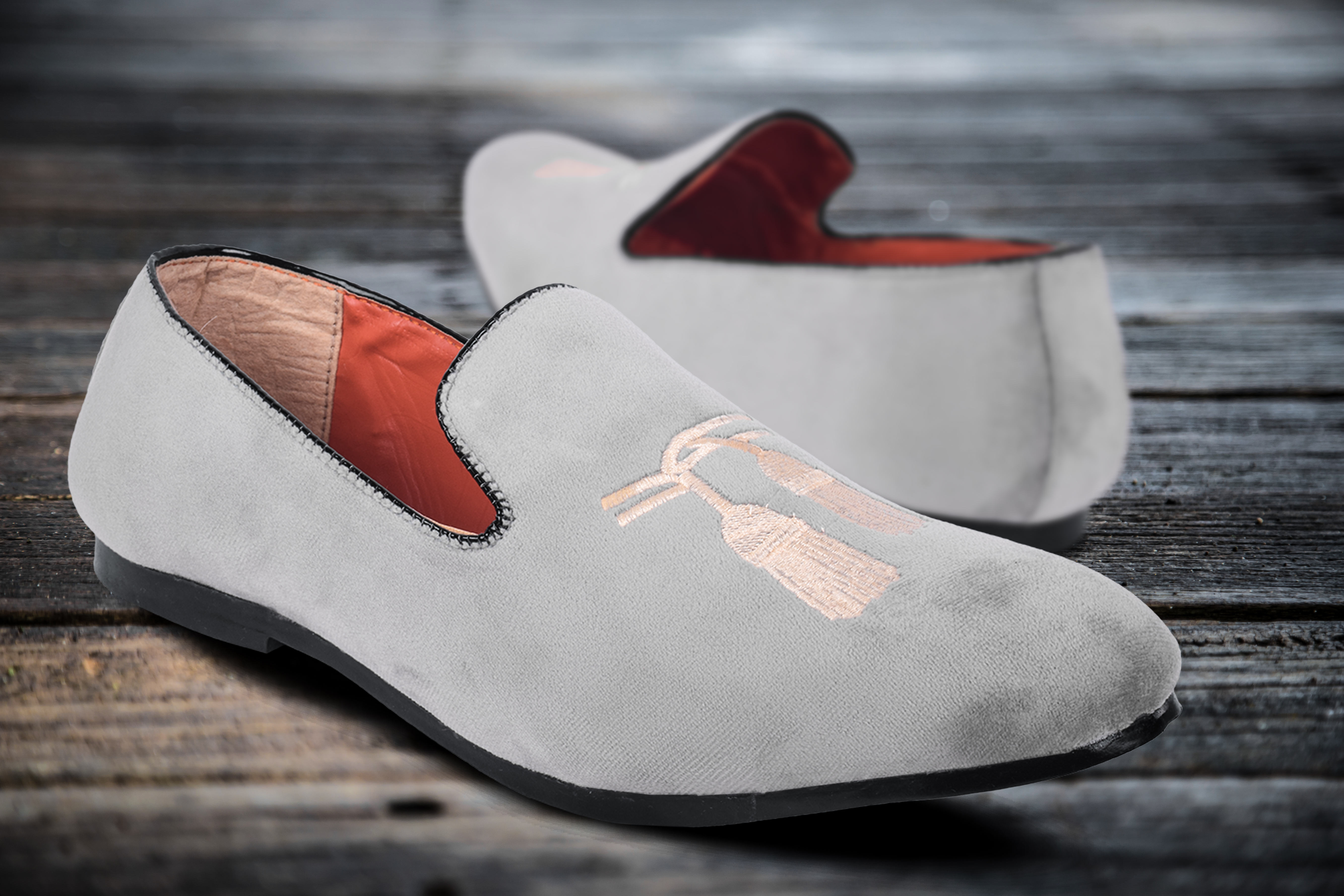 Trendy Stylish Men's Formal Shoes In Fashionable Style 215__GREY (GREY, 7-10, 4 PAIR)