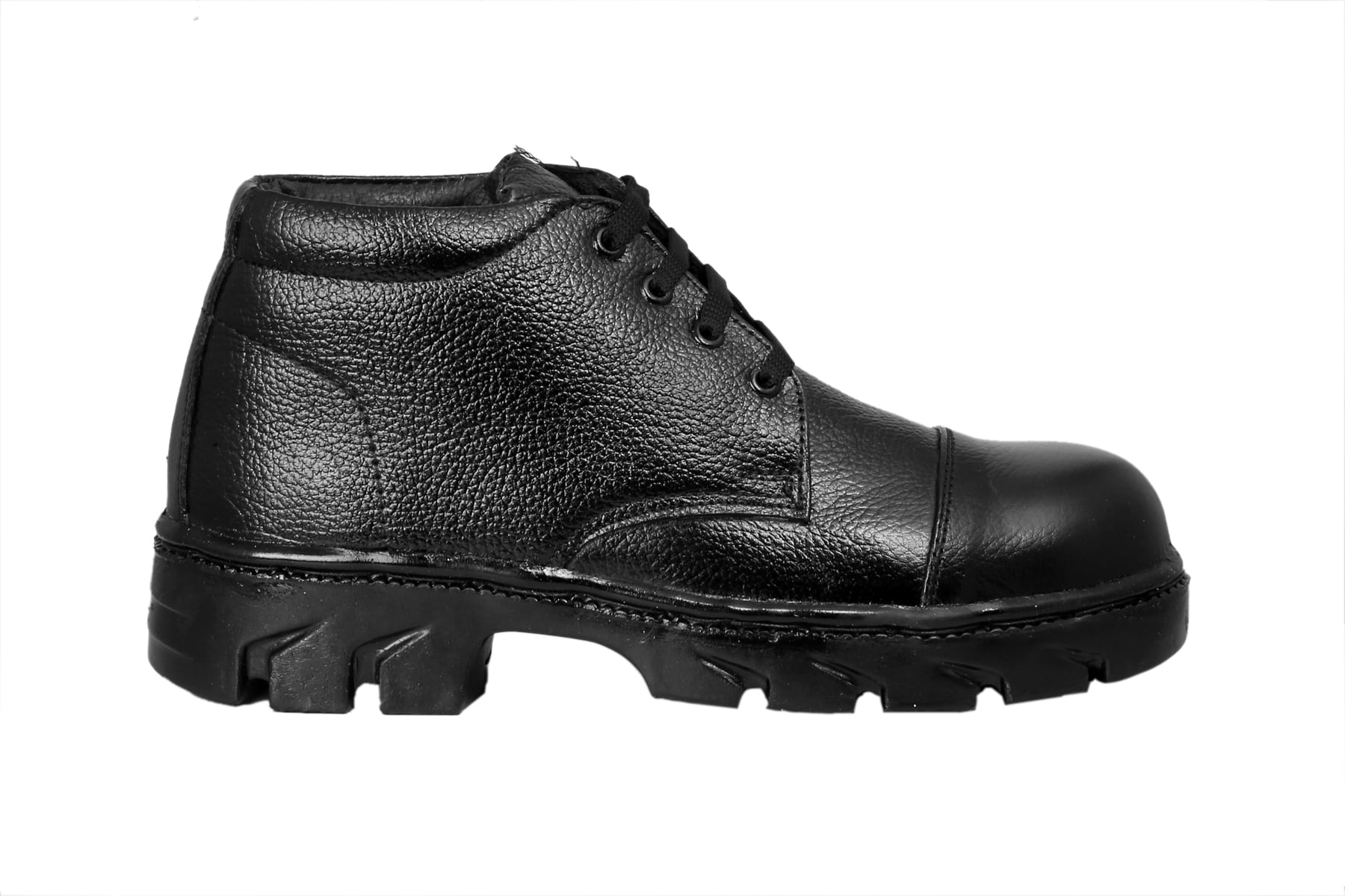 JK STEEL DURABLE PVC CHEAPEST BUDGET BLACK SAFETY SHOES JKPB008BLK (BLACK,6-10,1 PAIR)