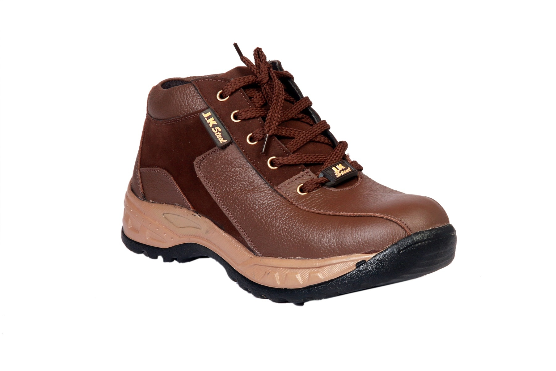 JK STEEL DURABLE AIRMIX STUCKON CHEAPEST BUDGET SAFETY SHOES JKP0164BRN (BROWN,6-10,1 PAIR)