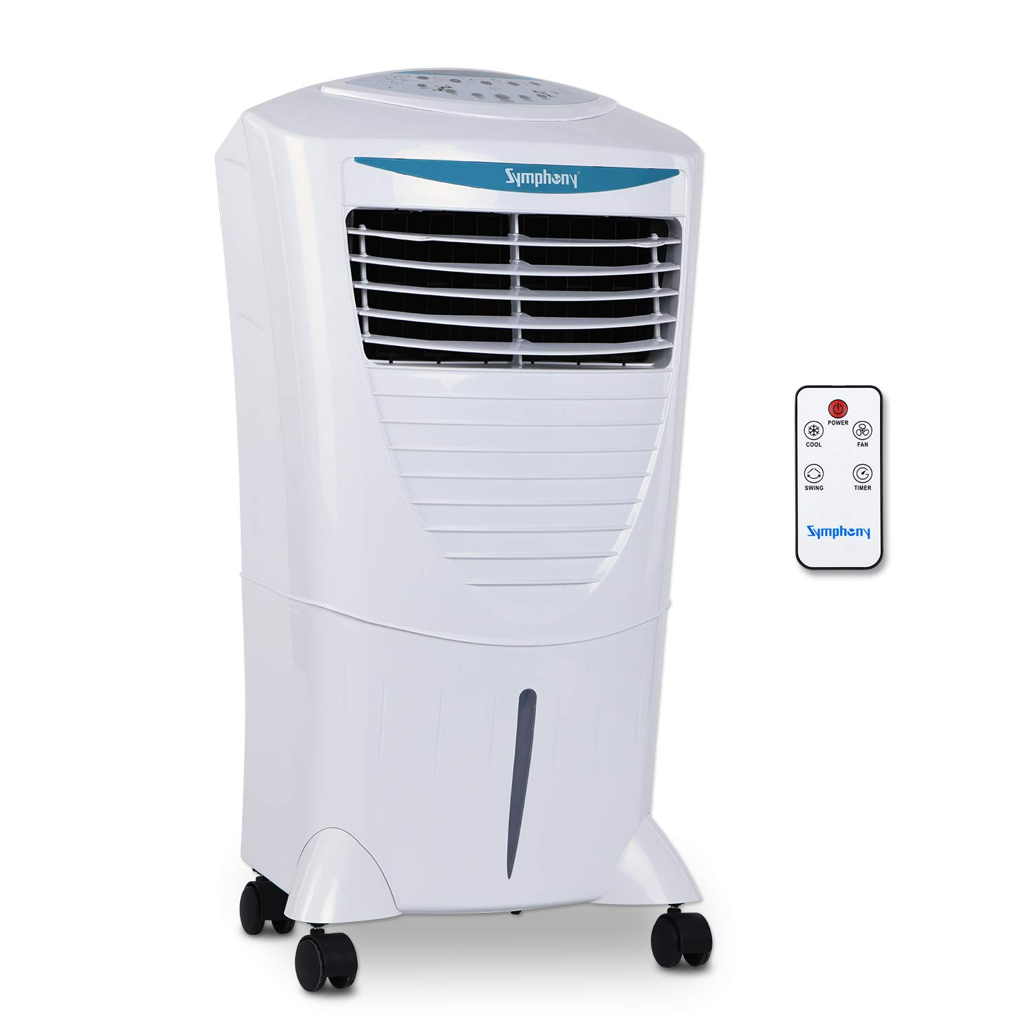 Symphony Hi Cool I Modern Personal Room Air Cooler 31-litres, With Remote, Honeycomb Pad, Multi-Stage Air Purification & Low Power Consumption (White)