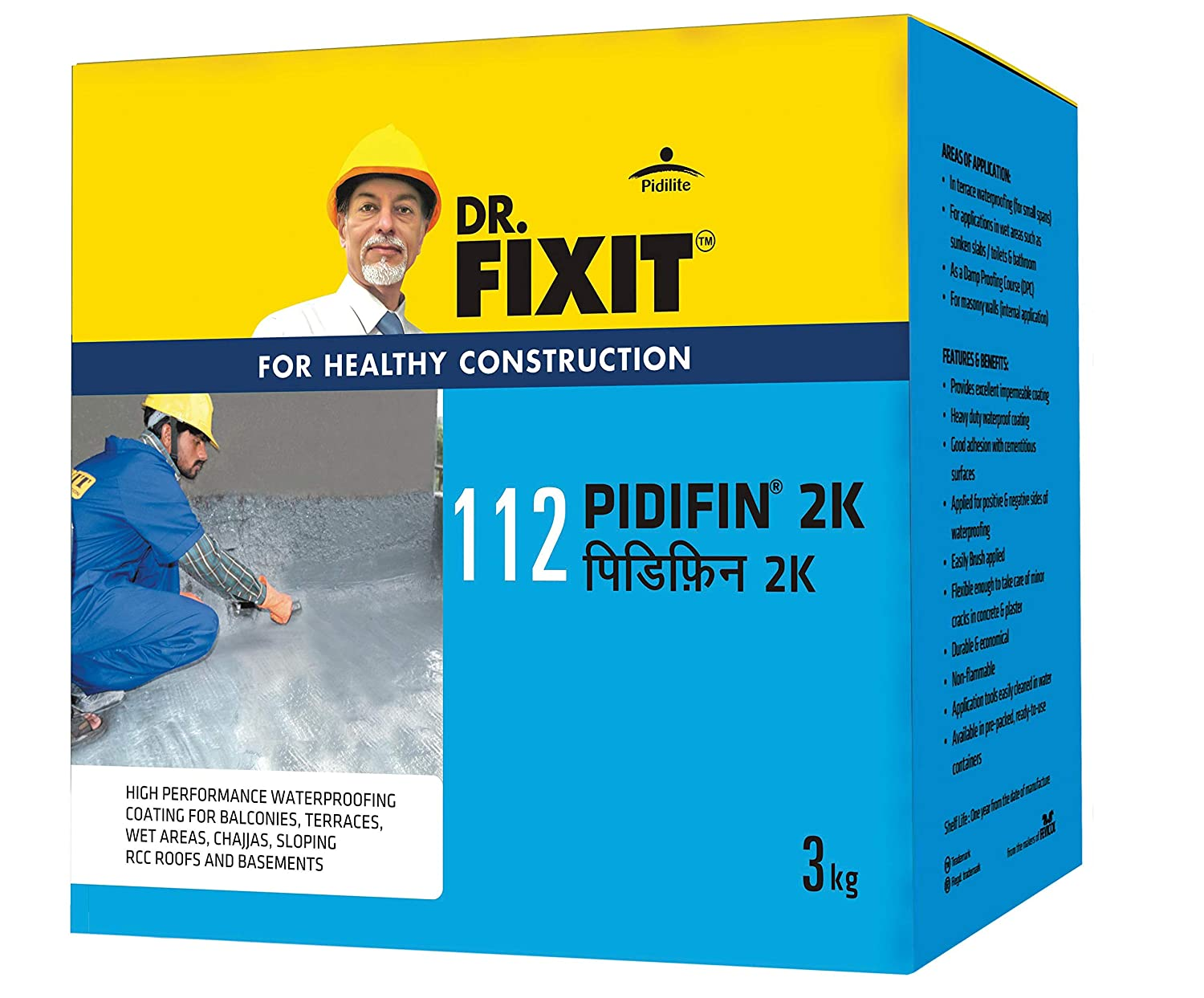 Dr. Fixit Pidifin 2K Bathroom Waterproofing 30KG
