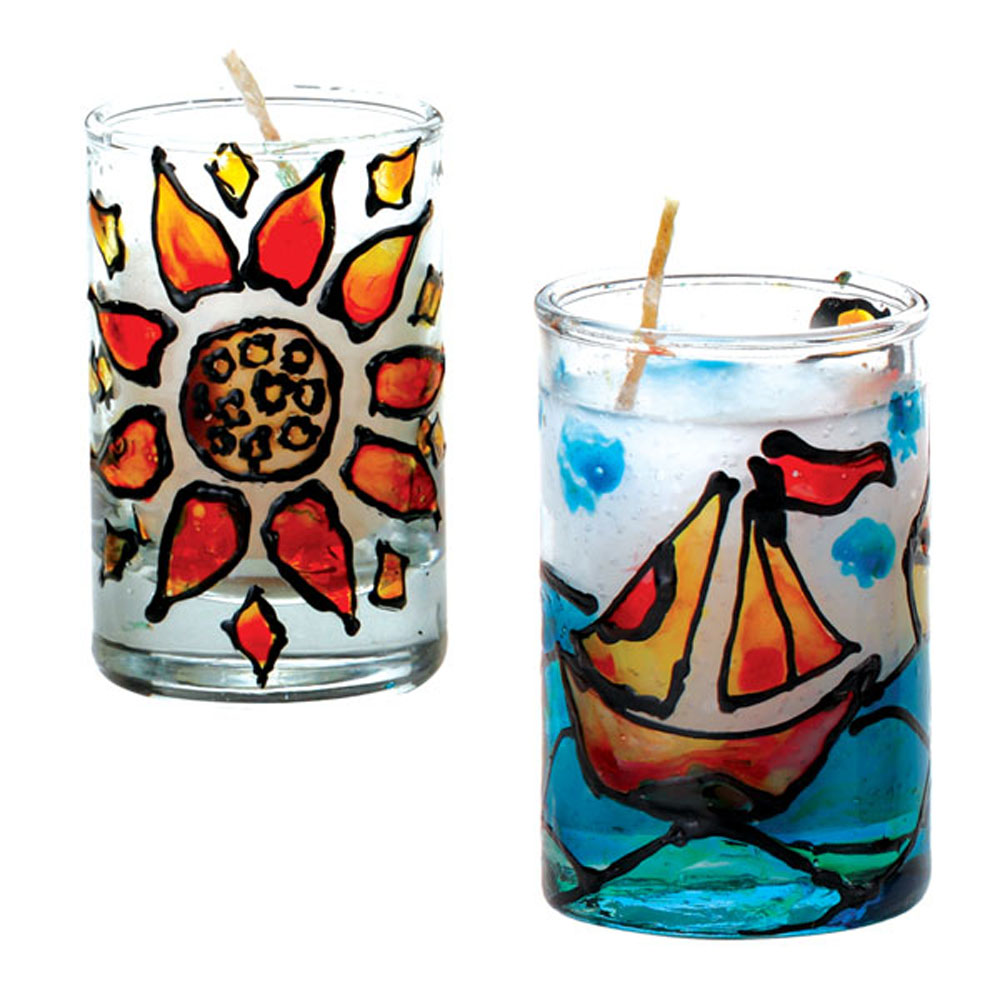Glass Painting Candle Making