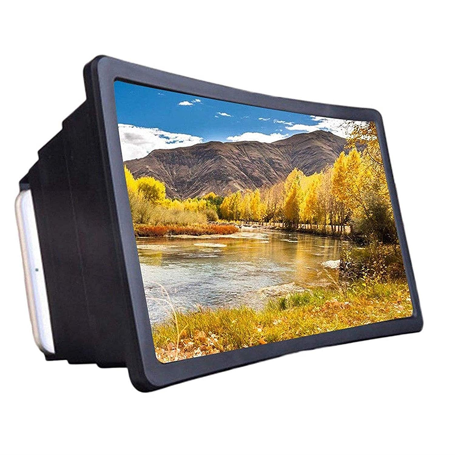 Ultra Eyes Protection Enlarged Mobile Phone 3D / Screen Magnifier F2-3D Video For All Smartphones