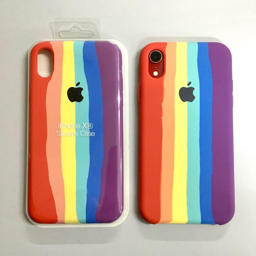 Handcrafted Creative Rainbow Apple IPhone Case Suitable For IPhone XR Phone Case, Watercolor IPhone Cases & Covers