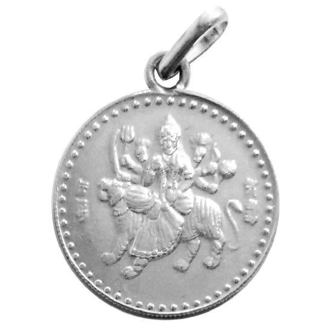 Numeroastro Shri Durga Bisa Yantra In Sterling-Silver Pendant For Men & Women (5.5 Gms) (1 Pc)