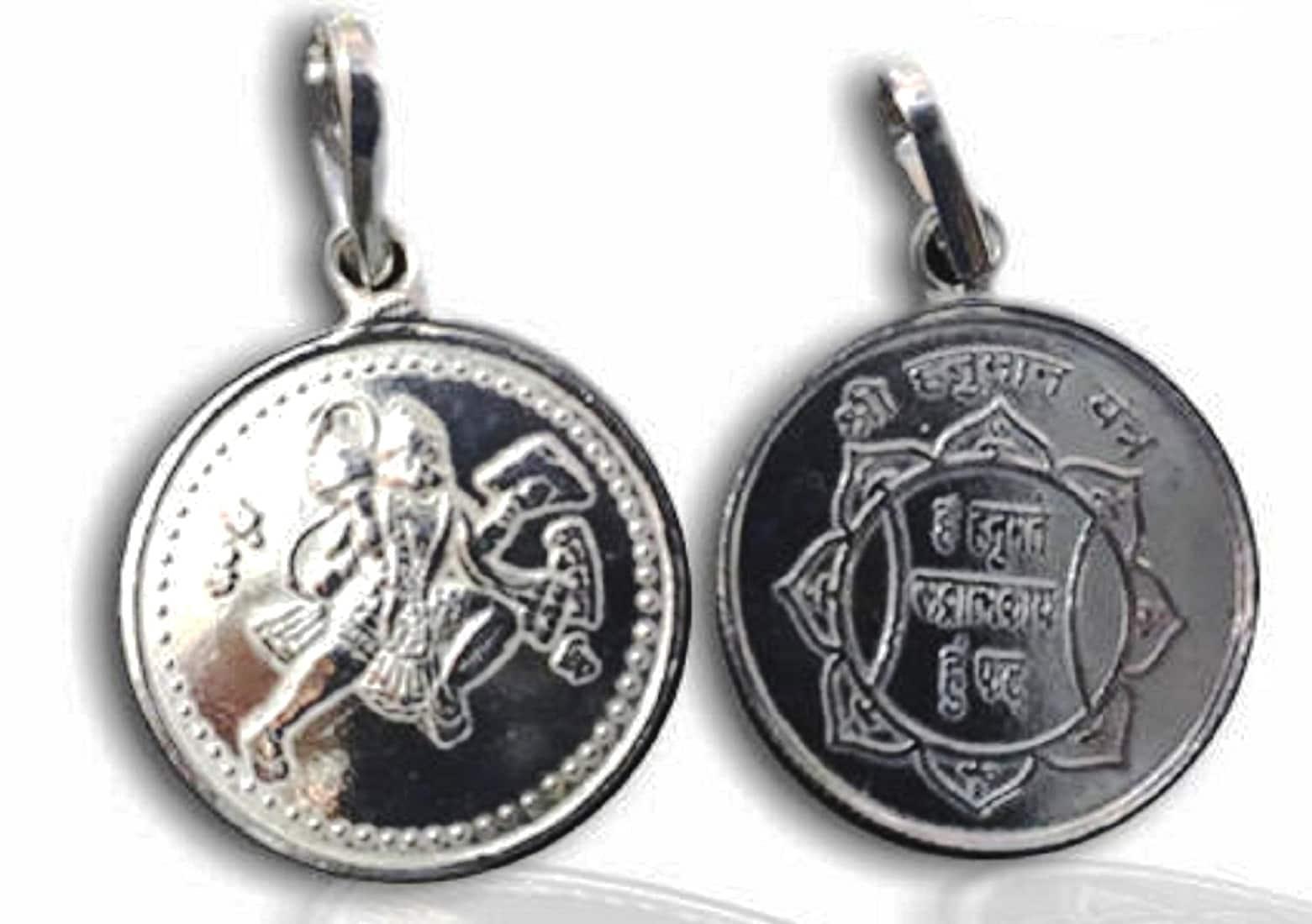 Numeroastro Shri Hanuman Yantra Pendant In Pure Silver (5.5 Grams) (1 Pc)