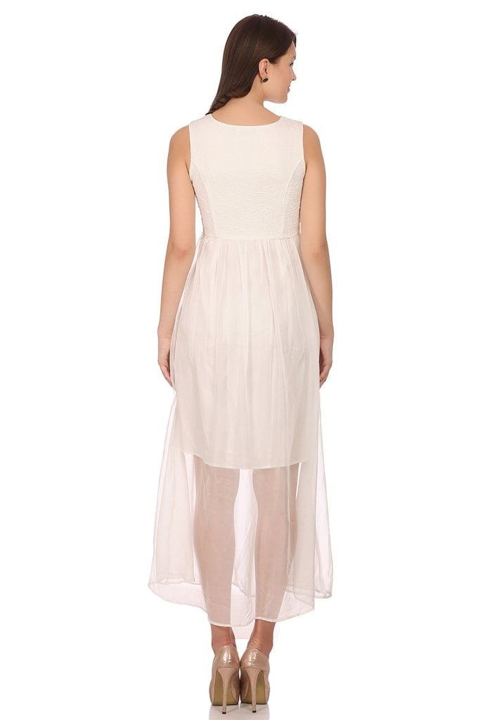 Madame Women White Gown (M,White)