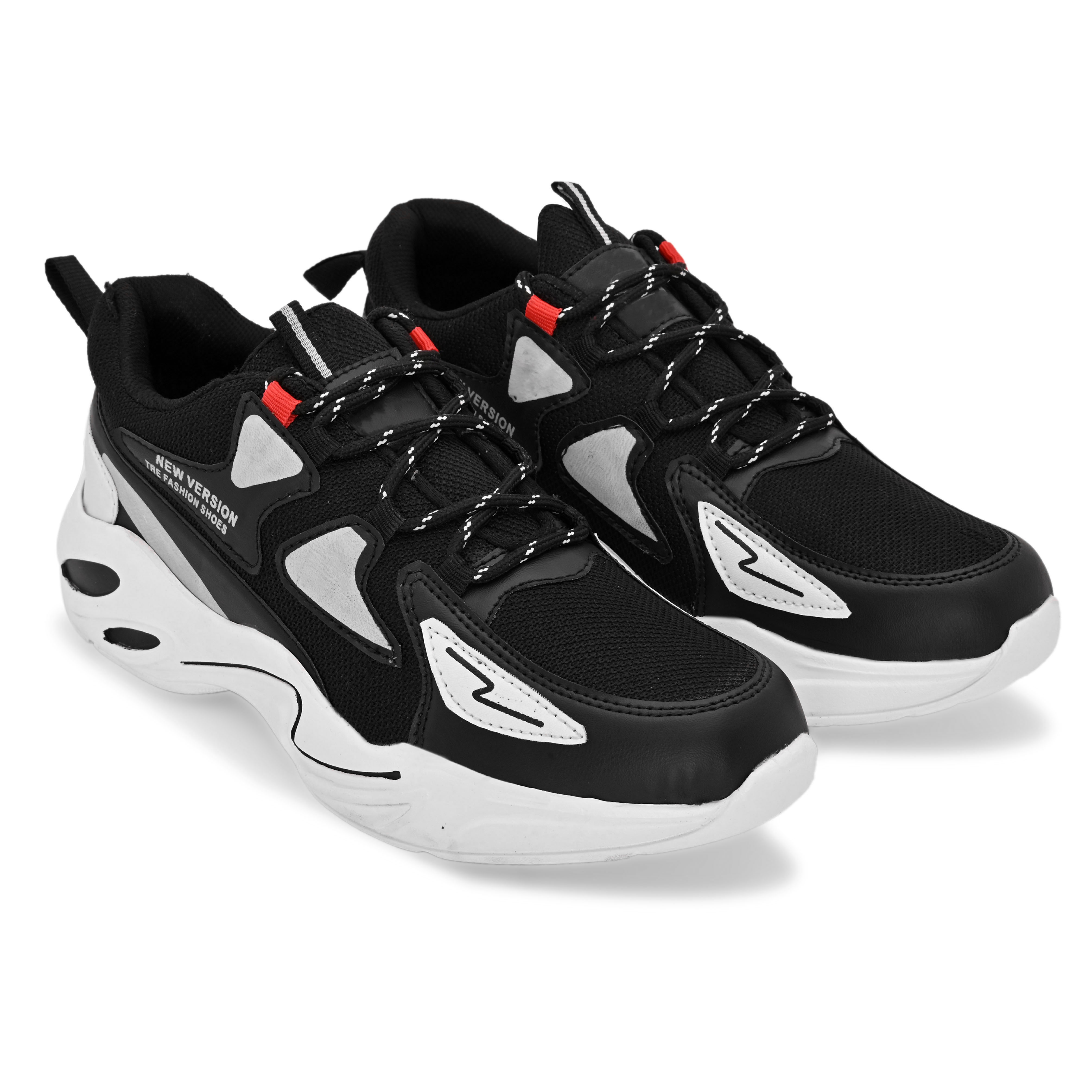 BRIFAR COMFORTABLE & TRENDY SPORTS SHOES ARE RELIABLE FOR ANY BFS0813BLK1 (7-10, BLACK, 4 PAIR)