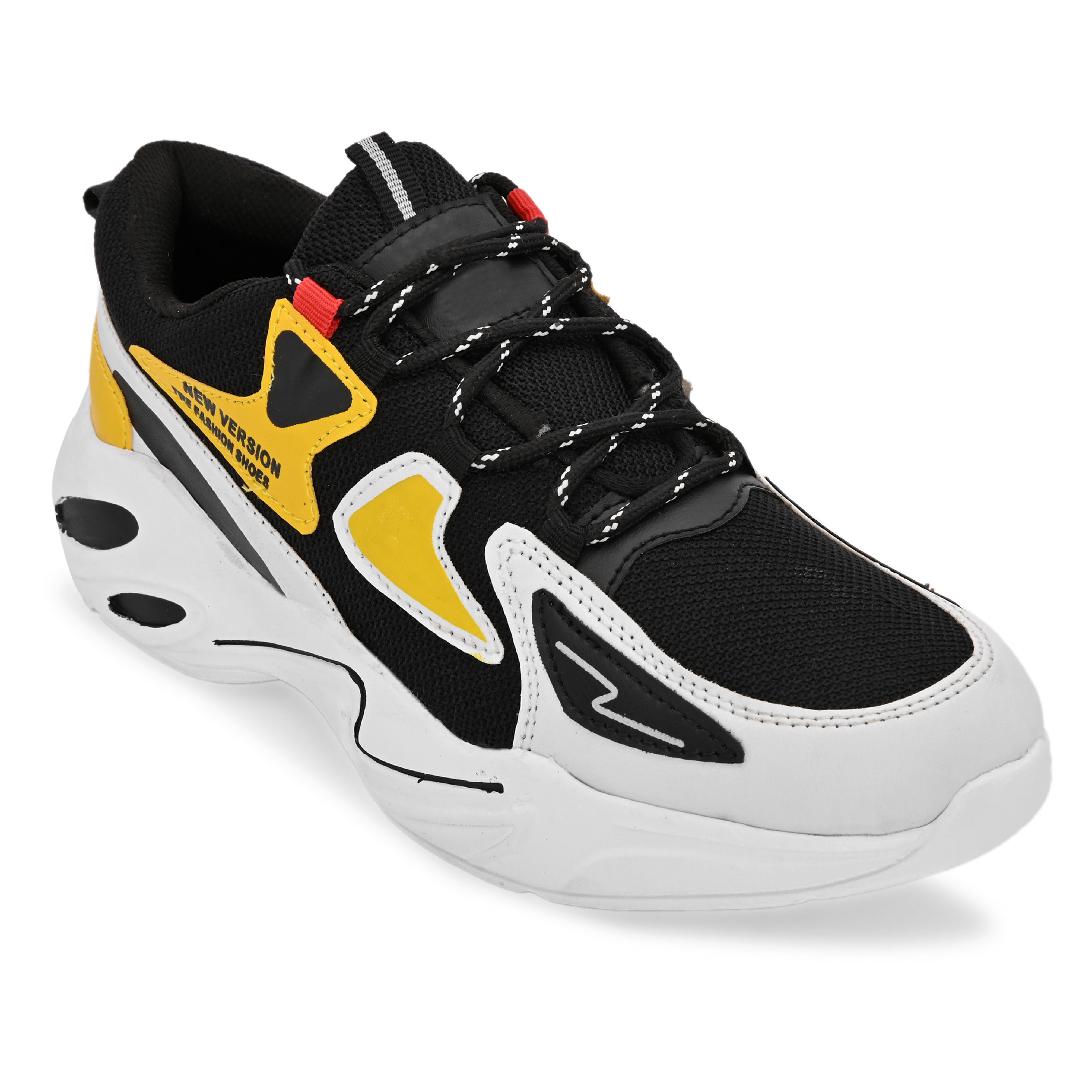 BRIFAR COMFORTABLE & TRENDY SPORTS SHOES ARE RELIABLE FOR ANY BFS0813YL1 (7-10, YELLOW, 4 PAIR)