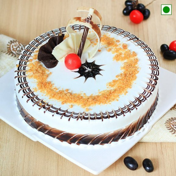 Yummy Butterscotch Eggless Cake (2kg)
