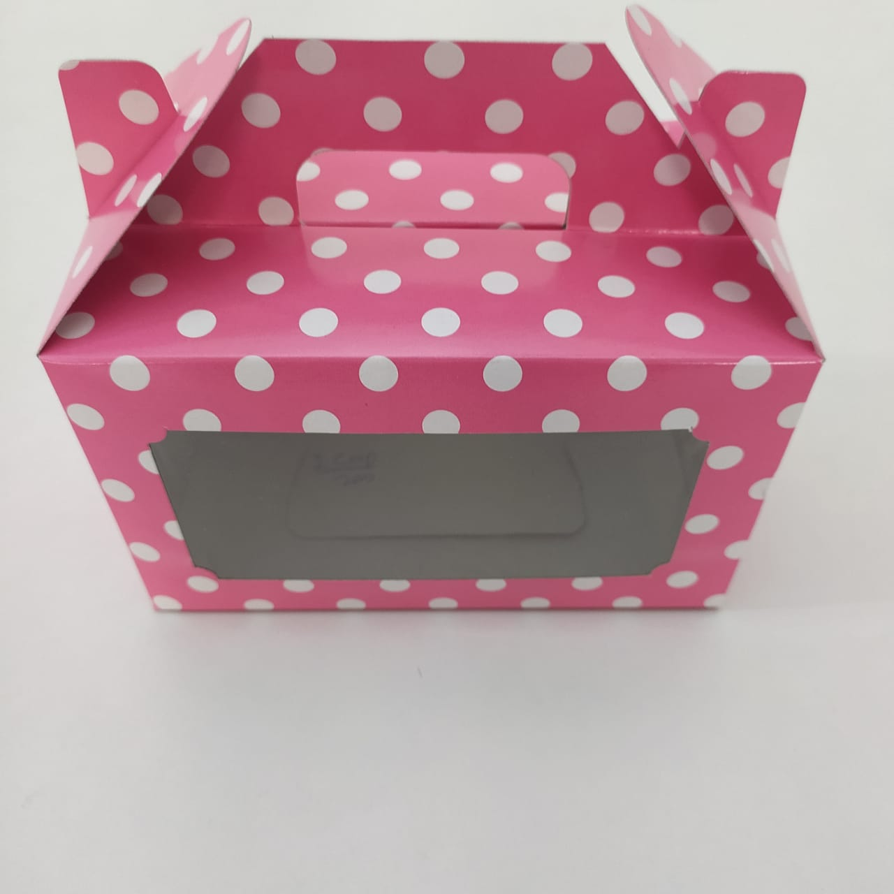 Pink Polk Dot Cup Cakebox (4) Insert