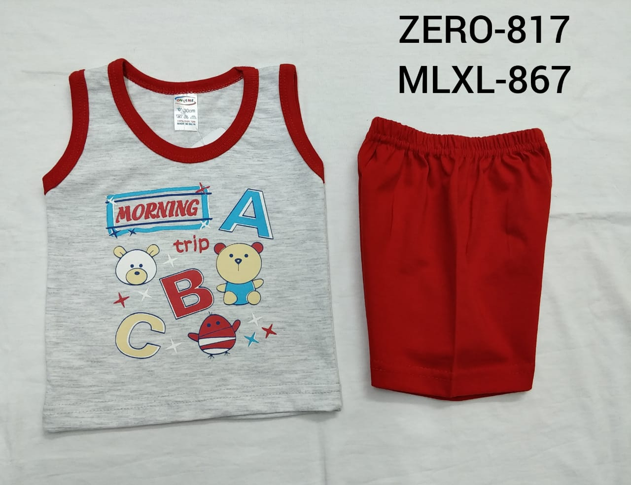 Only Me Boys Short Sleeve Vests And Shorts Set | Stunning Outfit For Your Cute Lil Prince | Pack Of 3 Sets (0(RPP-140))