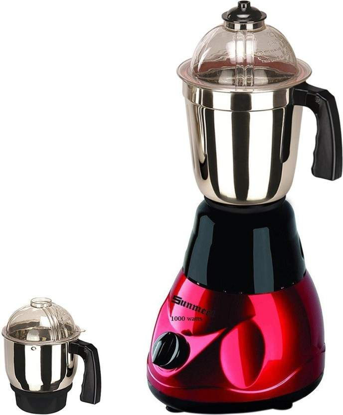 Sunmeet Mixer Grinder With 2 Jar (1 Large Jar And 1 Chutney Jar)-TAN20-SUN-45 1000 Mixer Grinder(Red, 2 Jars)