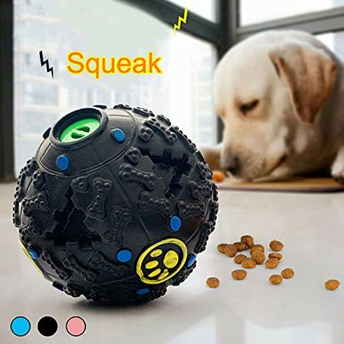 Pets Empire Interactive IQ Treat Training Toy Squeaky Dispenser Ball For Dogs Color May Vary- (10.5 Cm)
